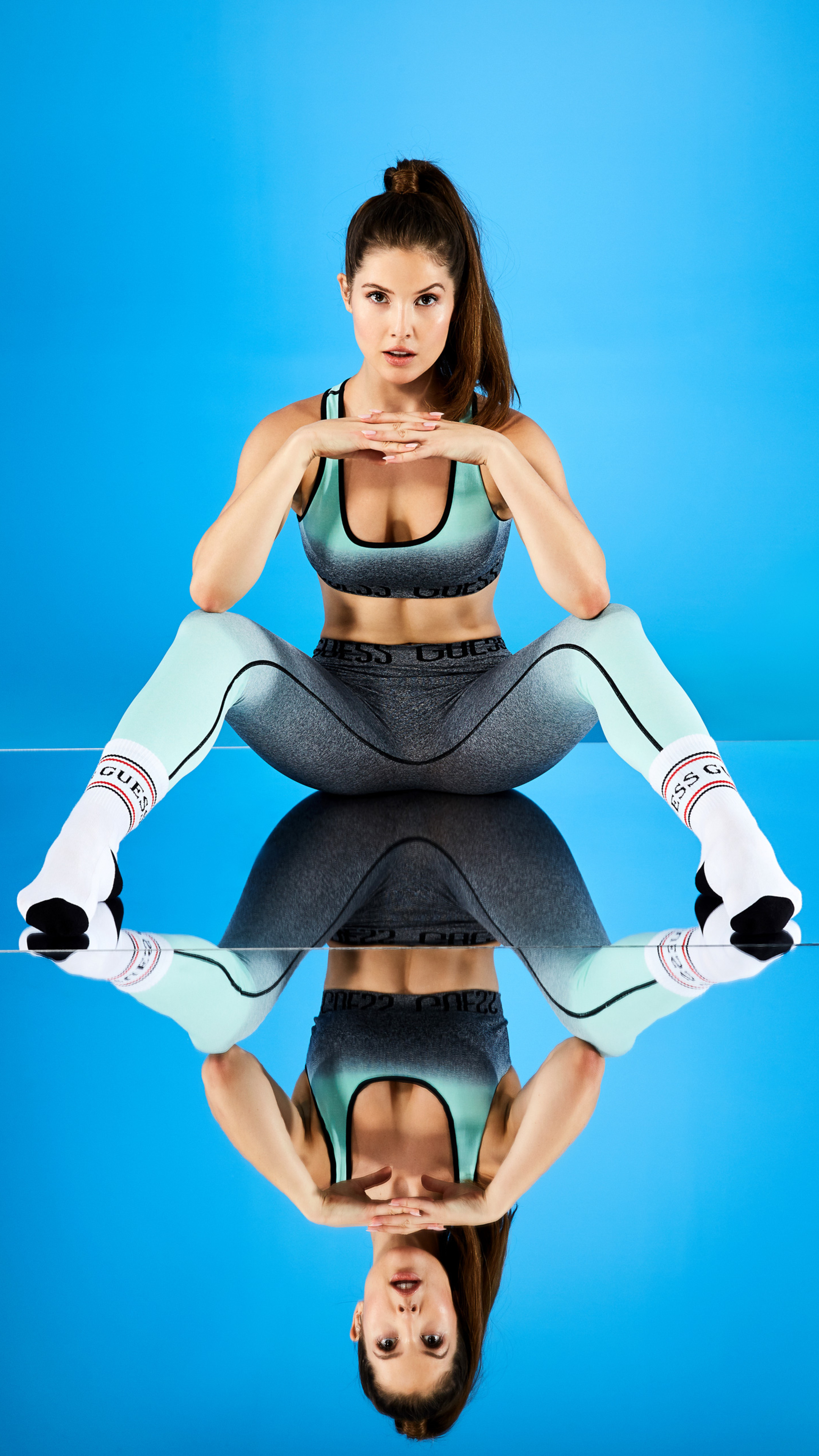 200 Anime Girl Wallpaper 2160x3840 Amanda Cerny Guess Spring 2018 Sony Xperia X Xz