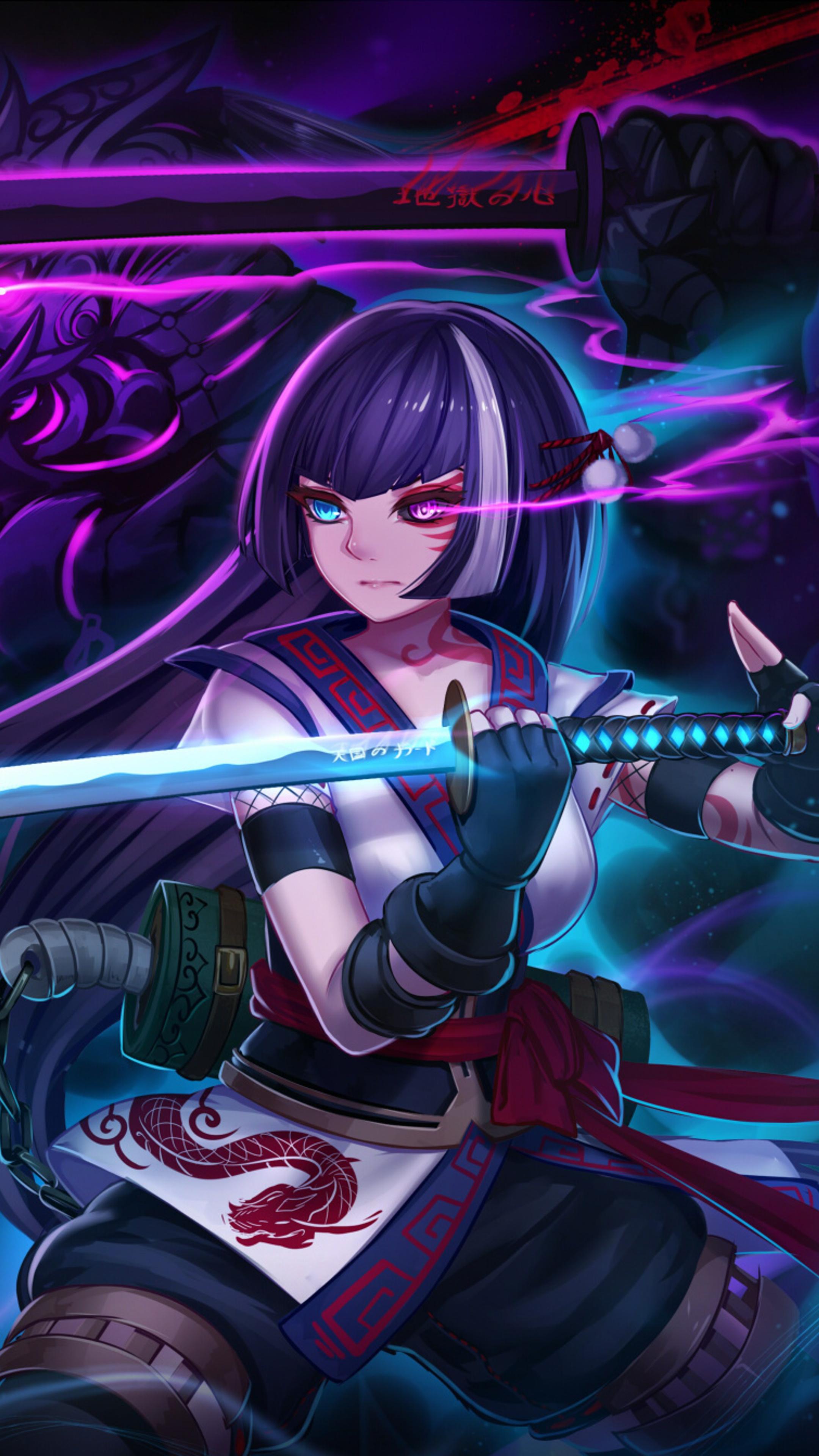 Indian Cute Girl Wallpaper 2160x3840 Anime Warrior Girl Sony Xperia X Xz Z5 Premium