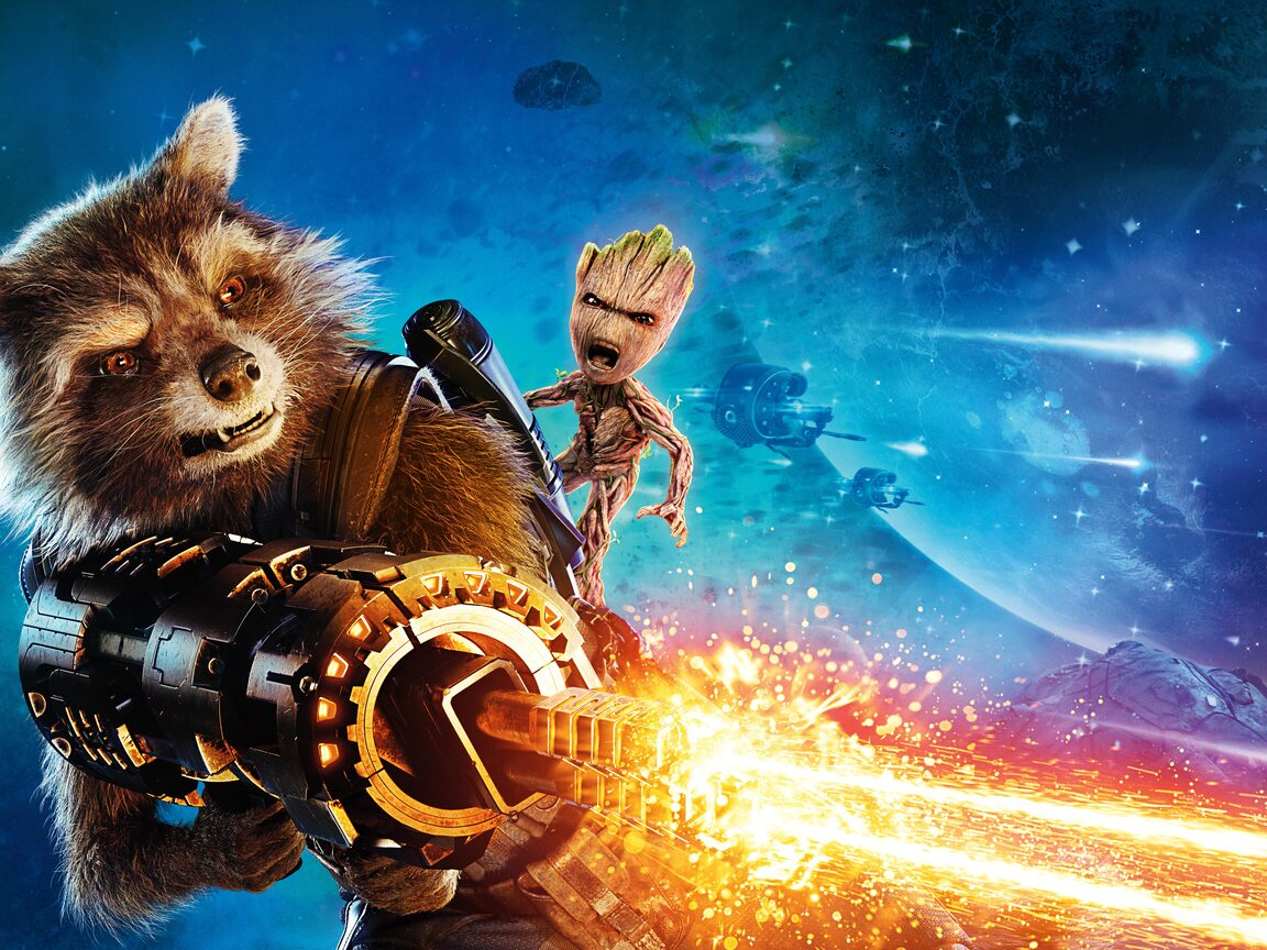 Cute Wallpapers  1152x864 Baby Groot And Rocket Raccoon Guardians Of The