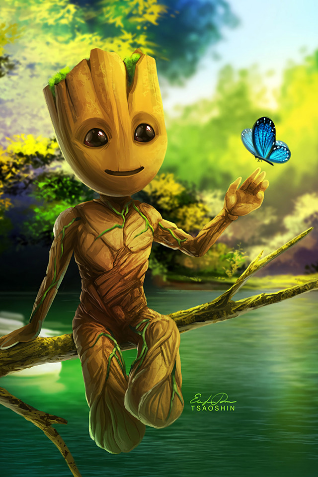 Cute And Popular Computer Wallpapers 640x960 Baby Groot Artwork Iphone 4 Iphone 4s Hd 4k