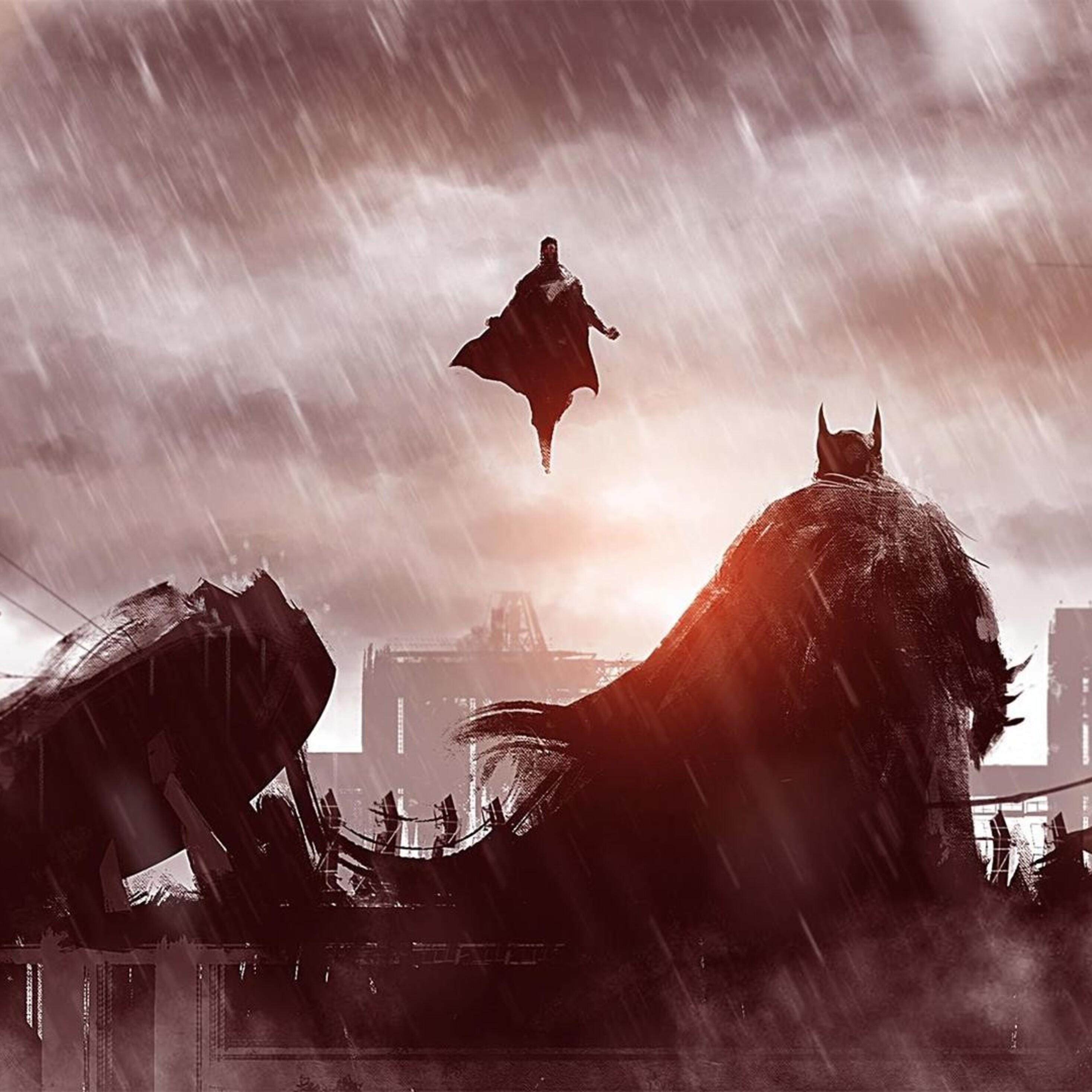 Superman 3d Wallpaper Download 2932x2932 Batman V Superman Concept Art Ipad Pro Retina