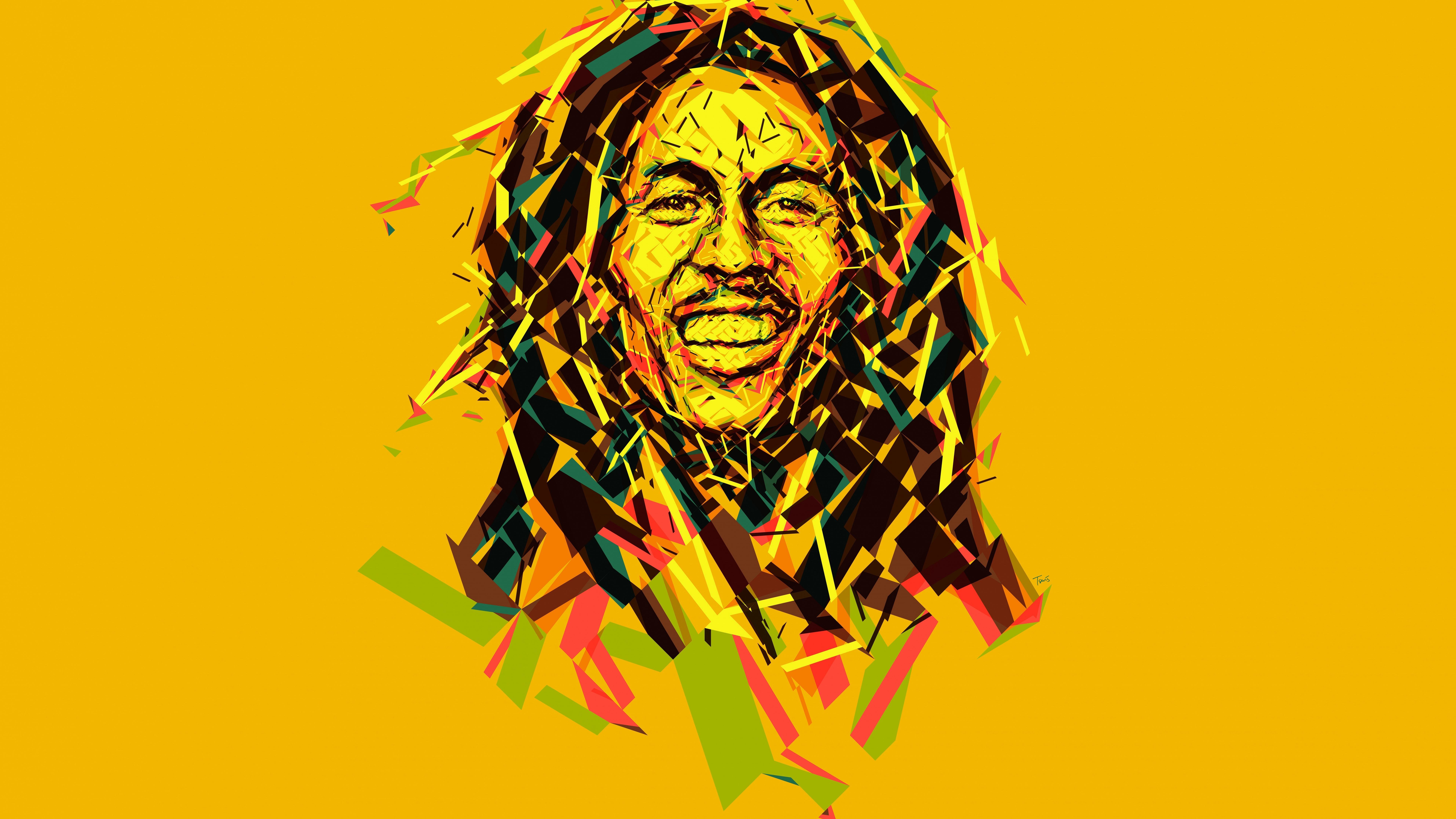 Ganja Wallpaper 3d 7680x4320 Bob Marley Abstract Artwork 8k 8k Hd 4k