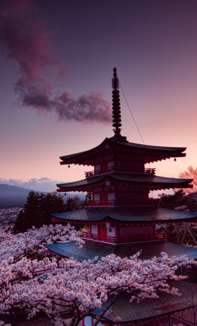 1280x2120 Churei Tower Mount Fuji In Japan 8k iPhone 6+ HD 4k Wallpapers, Images, Backgrounds ...