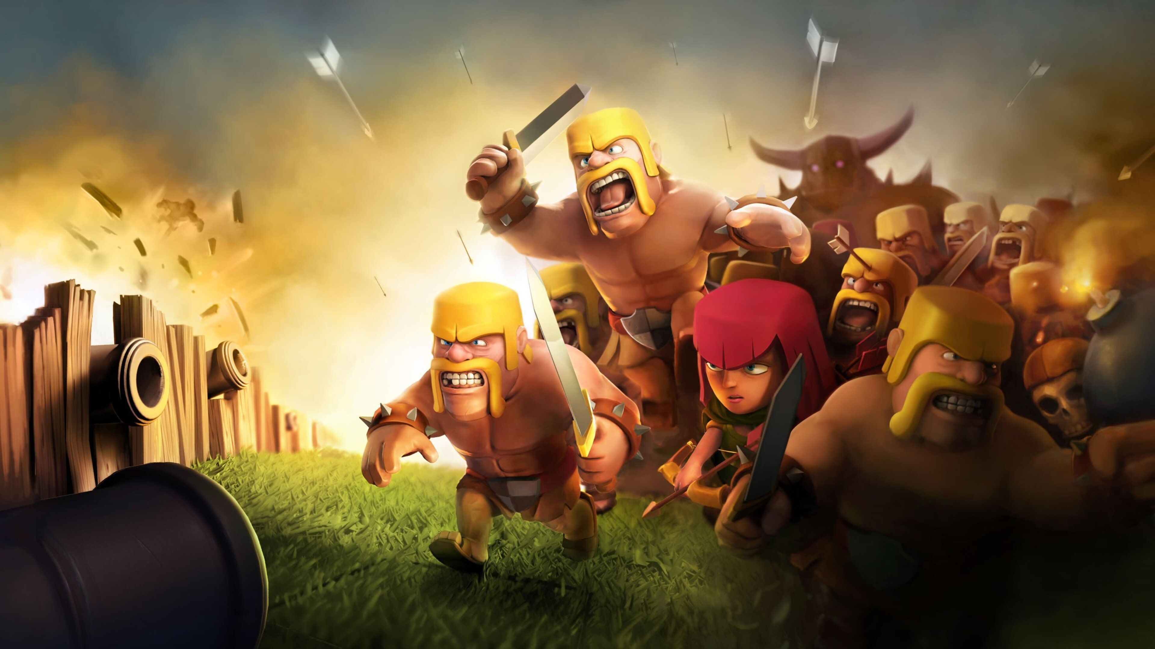 Cute Wallpapers  3840x2160 Clash Of Clans Hd 4k Hd 4k Wallpapers Images