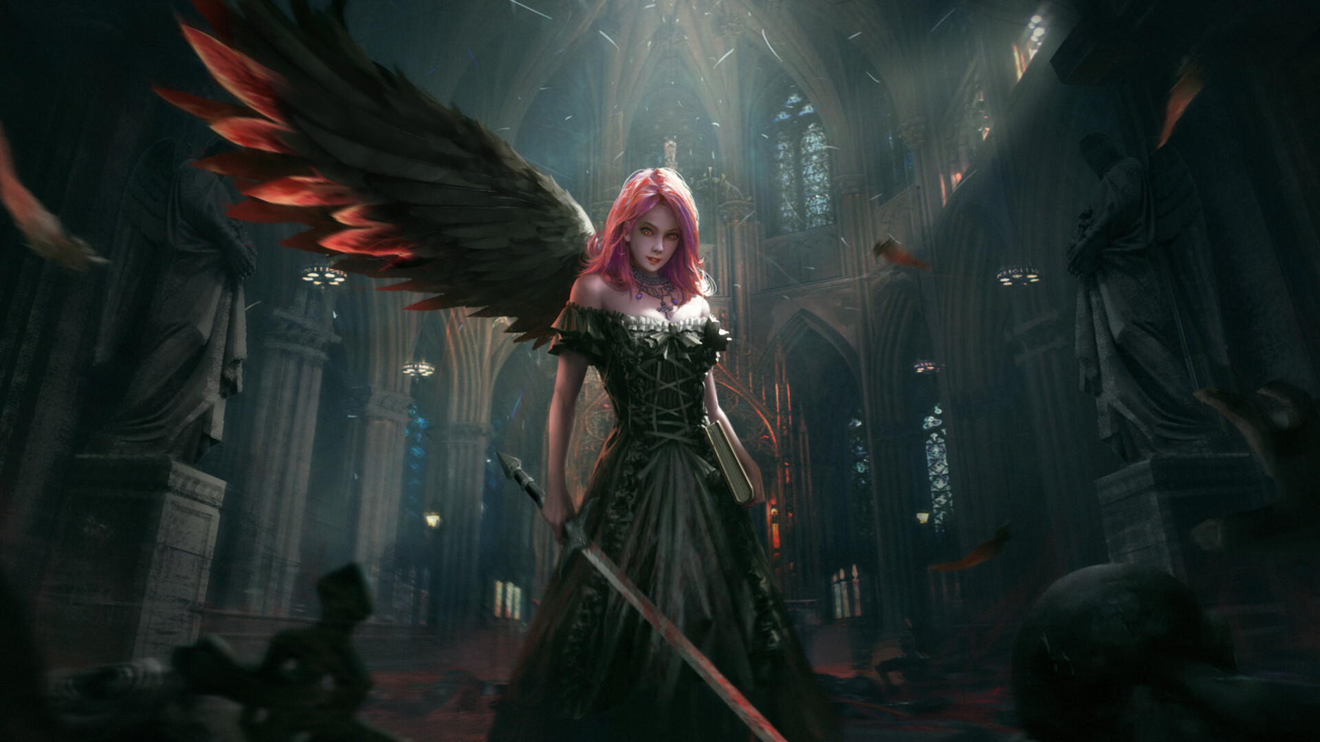 Hd Fantasy Girl Wallpapers 1080p 1920x1080 Dark Angel Laptop Full Hd 1080p Hd 4k Wallpapers