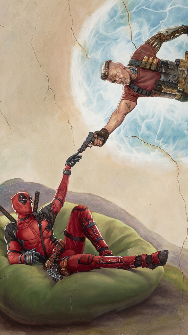 Deadpool Logo Wallpaper Hd 750x1334 Deadpool 2 2018 Movie Poster Iphone 6 Iphone 6s