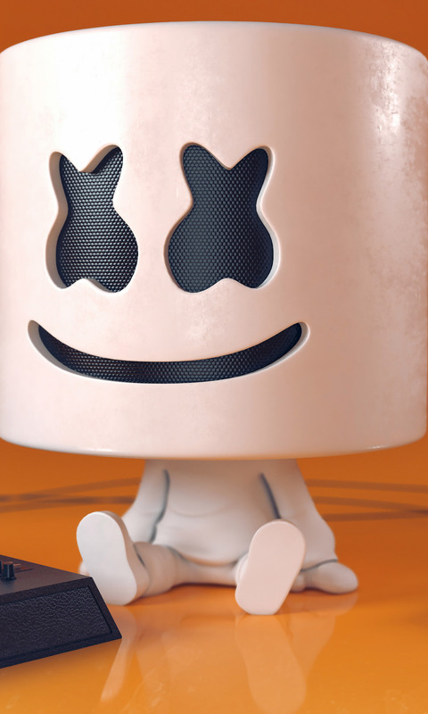 Wallpaper 3d Animado 480x800 Dj Marshmello Digital Art Galaxy Note Htc Desire