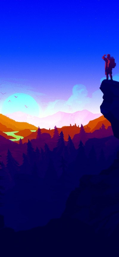 1125x2436 Firewatch 4k Iphone XS,Iphone 10,Iphone X HD 4k Wallpapers, Images, Backgrounds ...