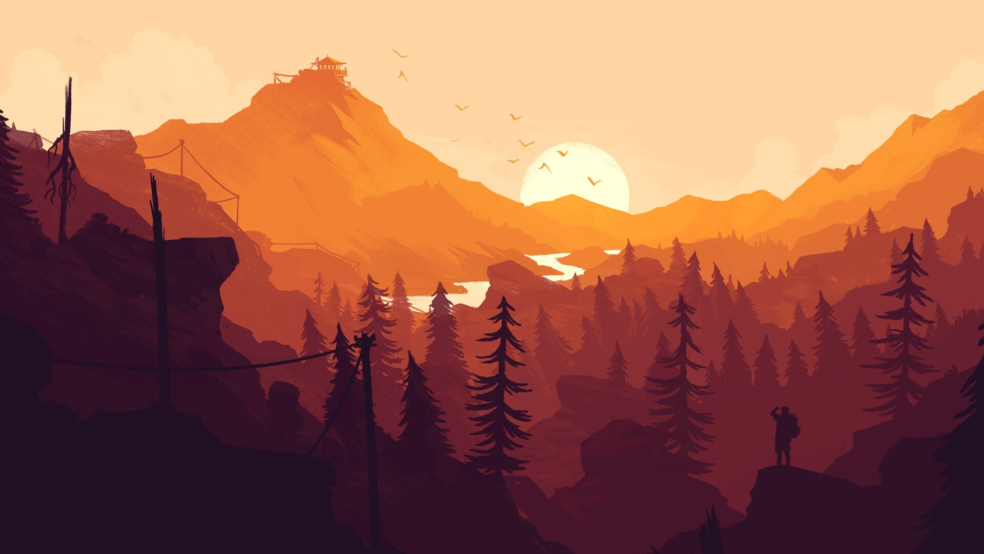 Cute Apple Logo Wallpaper 1920x1080 Firewatch Game Laptop Full Hd 1080p Hd 4k