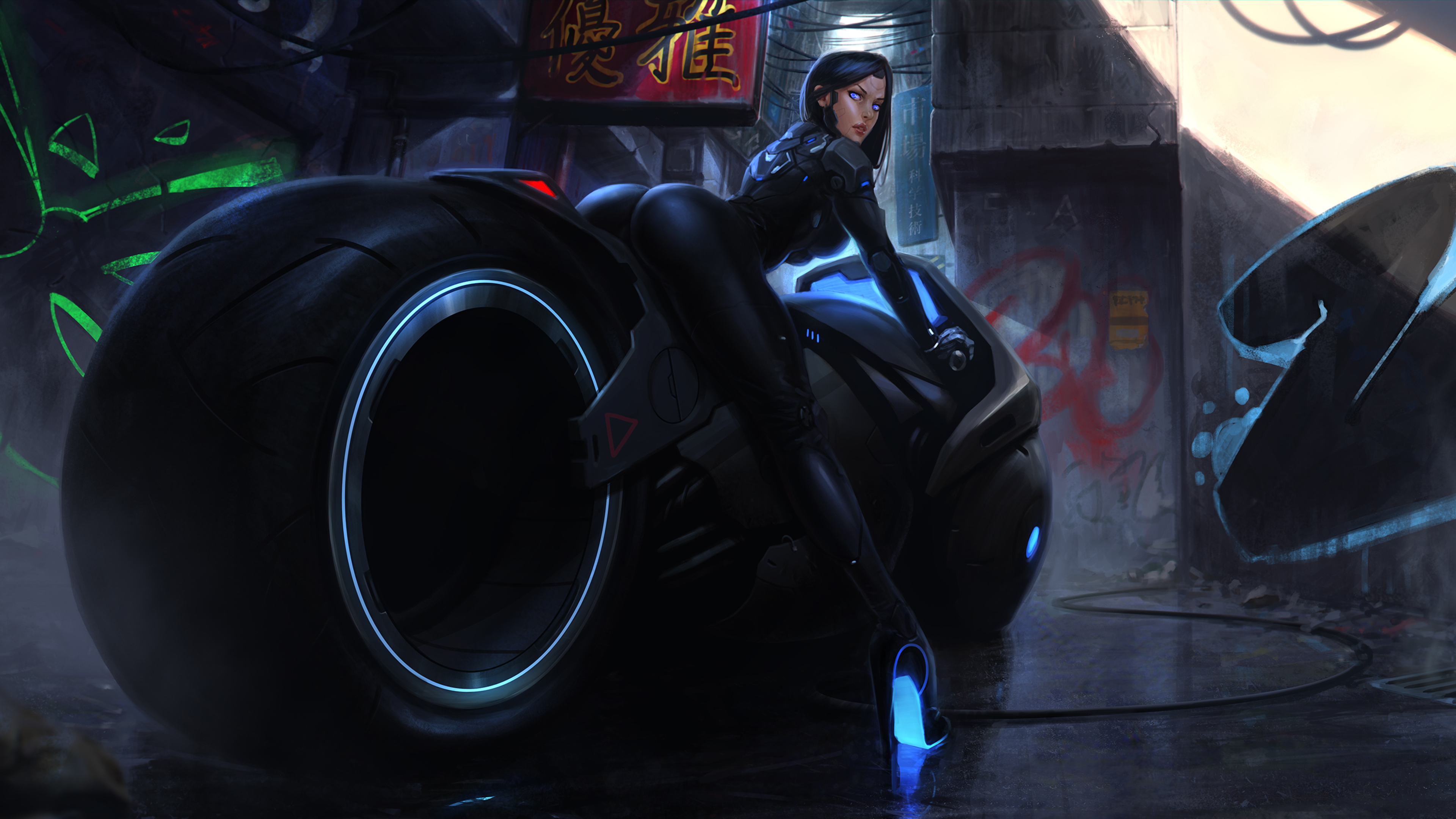 Indian Girl Hd Wallpaper 1920x1080 3840x2160 Hot Girl On Tron Bike Artwork 4k Hd 4k