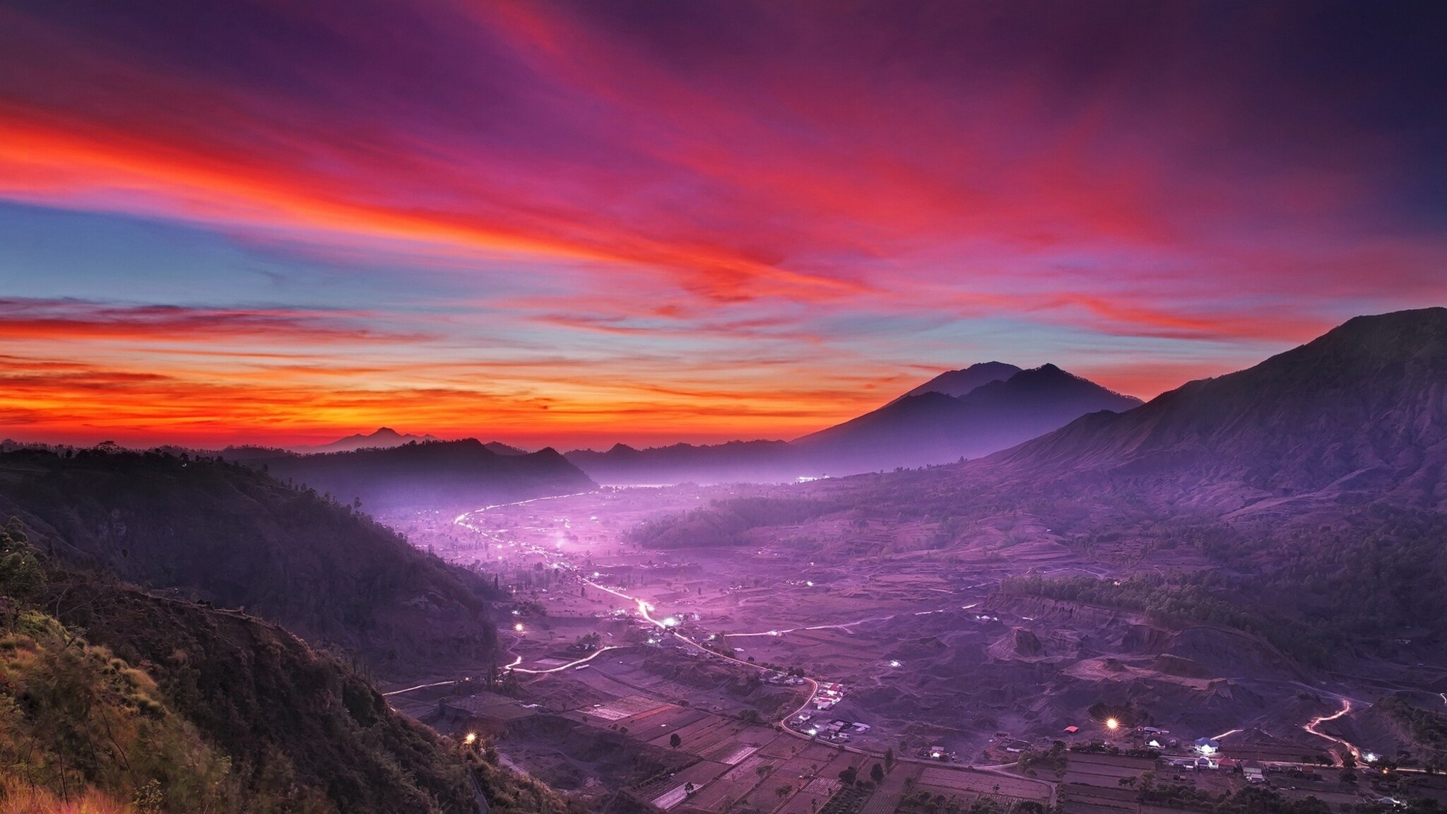Cute Wallpapers  2048x1152 Indonesia Landscape Nature 2048x1152 Resolution
