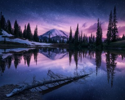 1280x1024 Lake Nature Night Reflection 1280x1024 Resolution HD 4k Wallpapers, Images ...
