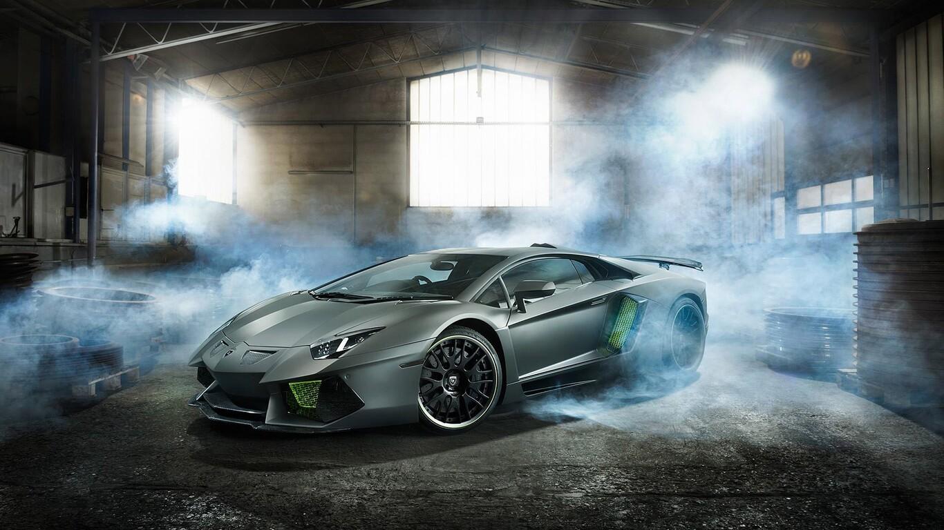 Drift Car Wallpaper Mobile 1366x768 Lamborghini Aventador Desktop Hd 1366x768