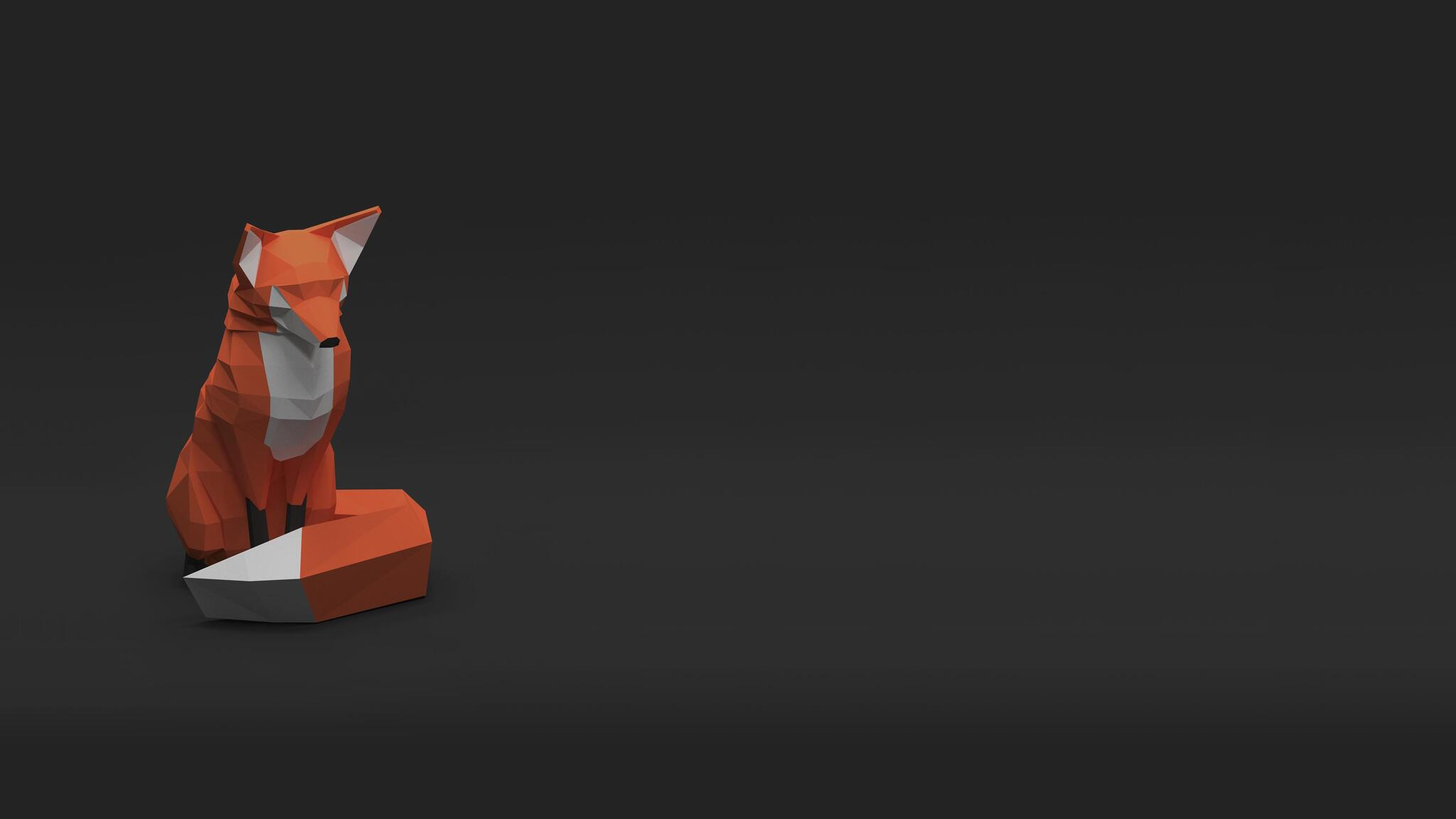 3d Wallpaper For Mobile 480x800 2048x1152 Low Poly Fox 2048x1152 Resolution Hd 4k