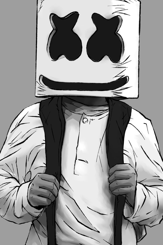 Cute Marshmallow Wallpapers For Iphone 640x960 Marshmello Artwork Iphone 4 Iphone 4s Hd 4k