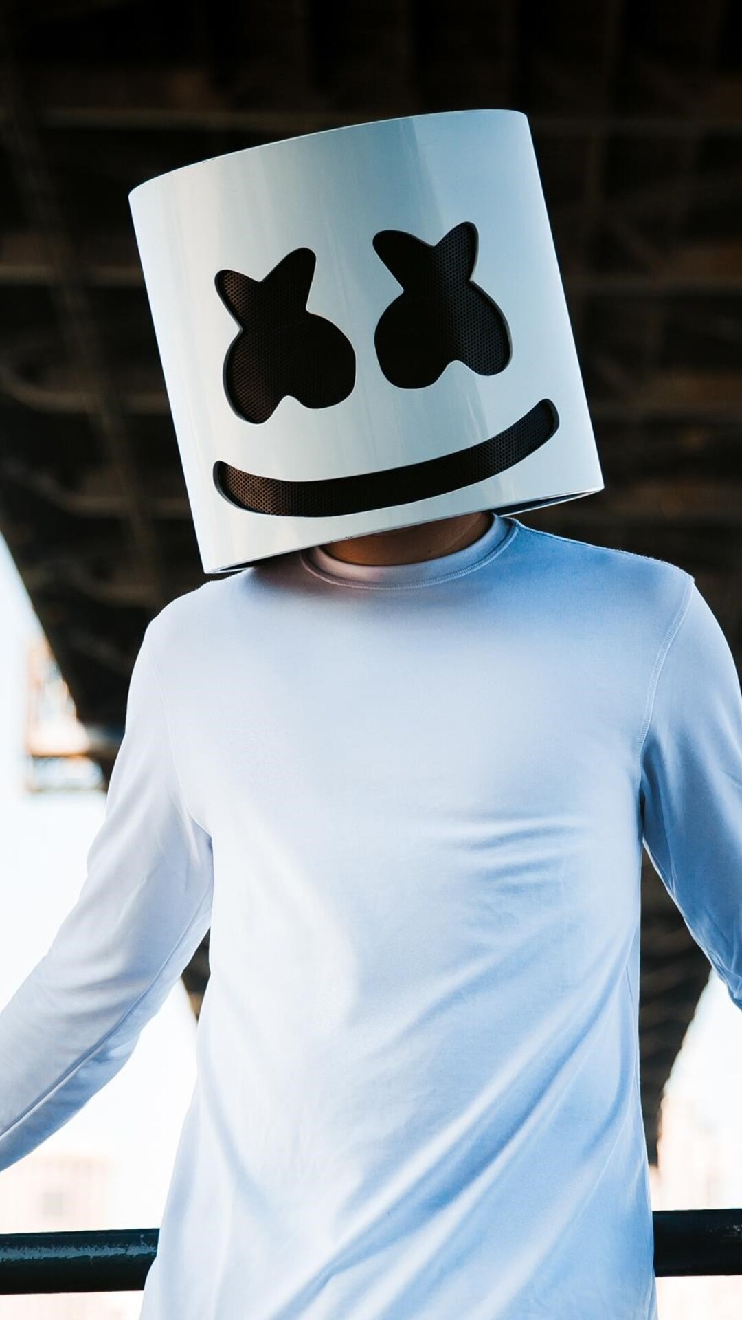 Cute Marshmallow Wallpaper Hd 1080x1920 Marshmello Dj Mask Iphone 7 6s 6 Plus Pixel Xl
