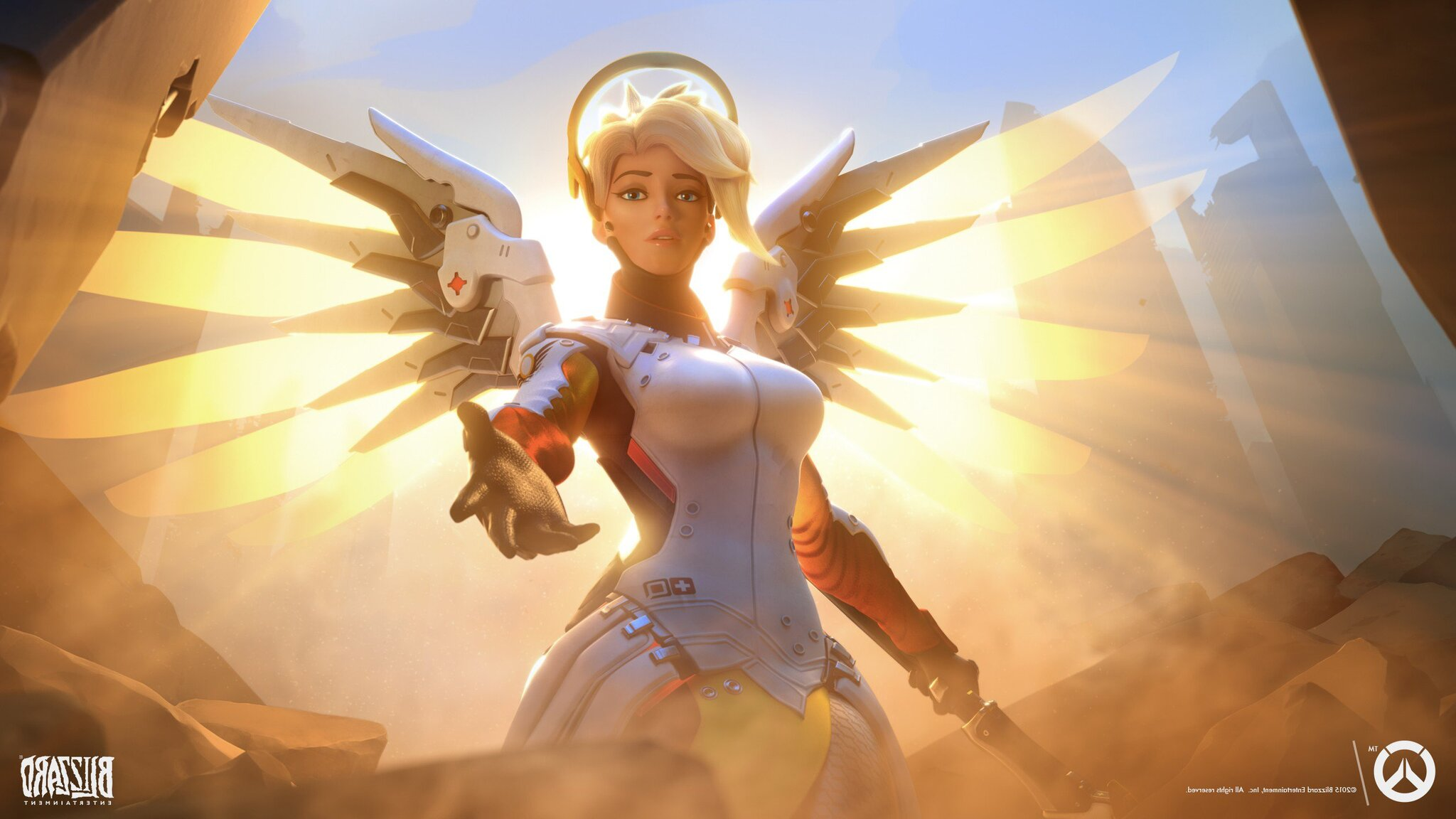 3d Wallpaper Of Cars And Bikes 2048x1152 Mercy Overwatch 2048x1152 Resolution Hd 4k