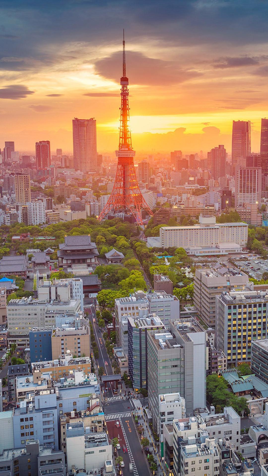 Beautiful 3d Wallpaper Iphone 6 1080x1920 Morning In Tokyo Iphone 7 6s 6 Plus Pixel Xl