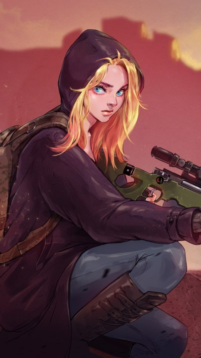 750x1334 Pubg Game Girl Fanart iPhone 6, iPhone 6S, iPhone 7 HD 4k Wallpapers, Images ...