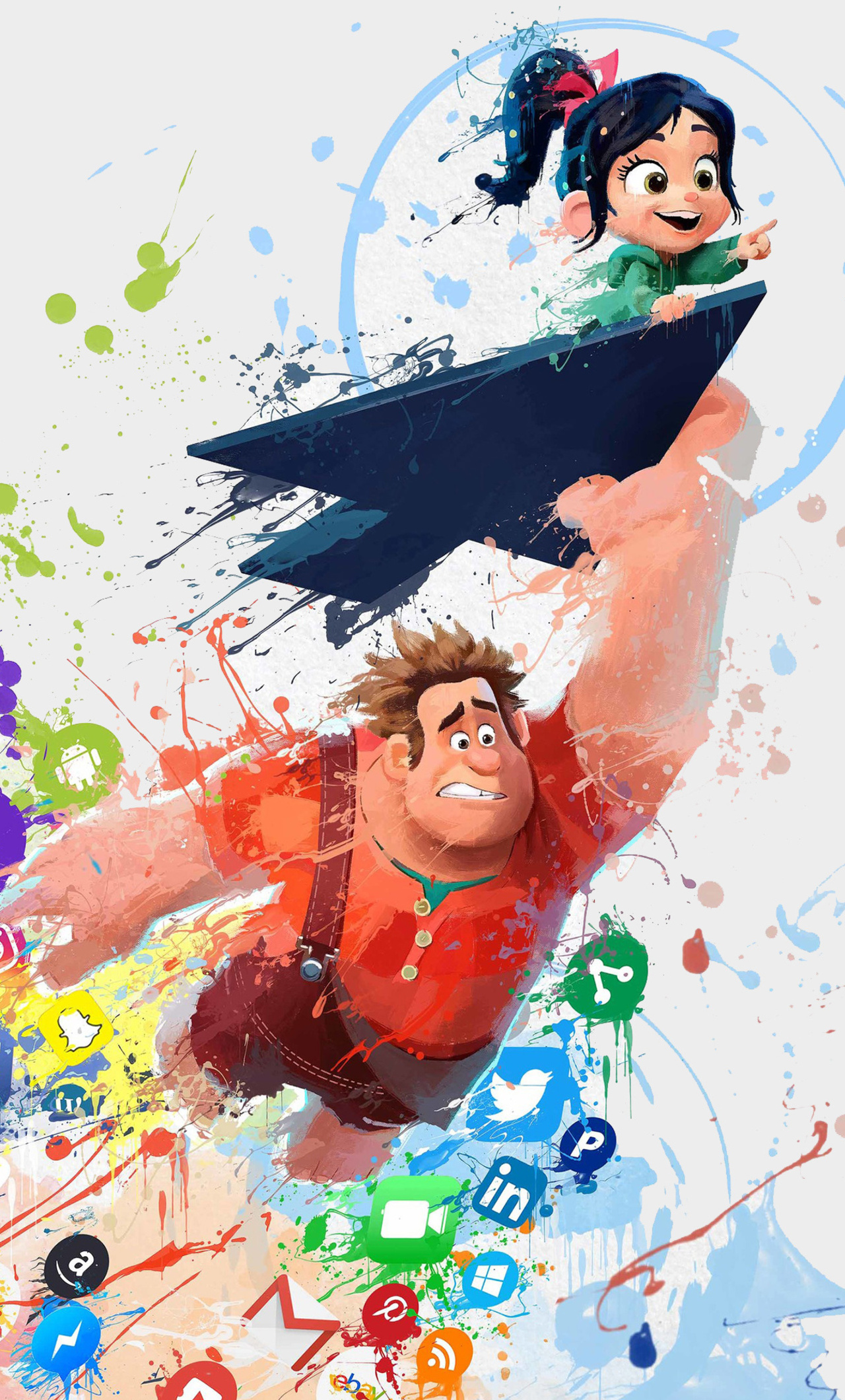 Cute Wallpapers For Edgy Girls 1280x2120 Ralph Breaks The Internet Wreck It Art Iphone 6