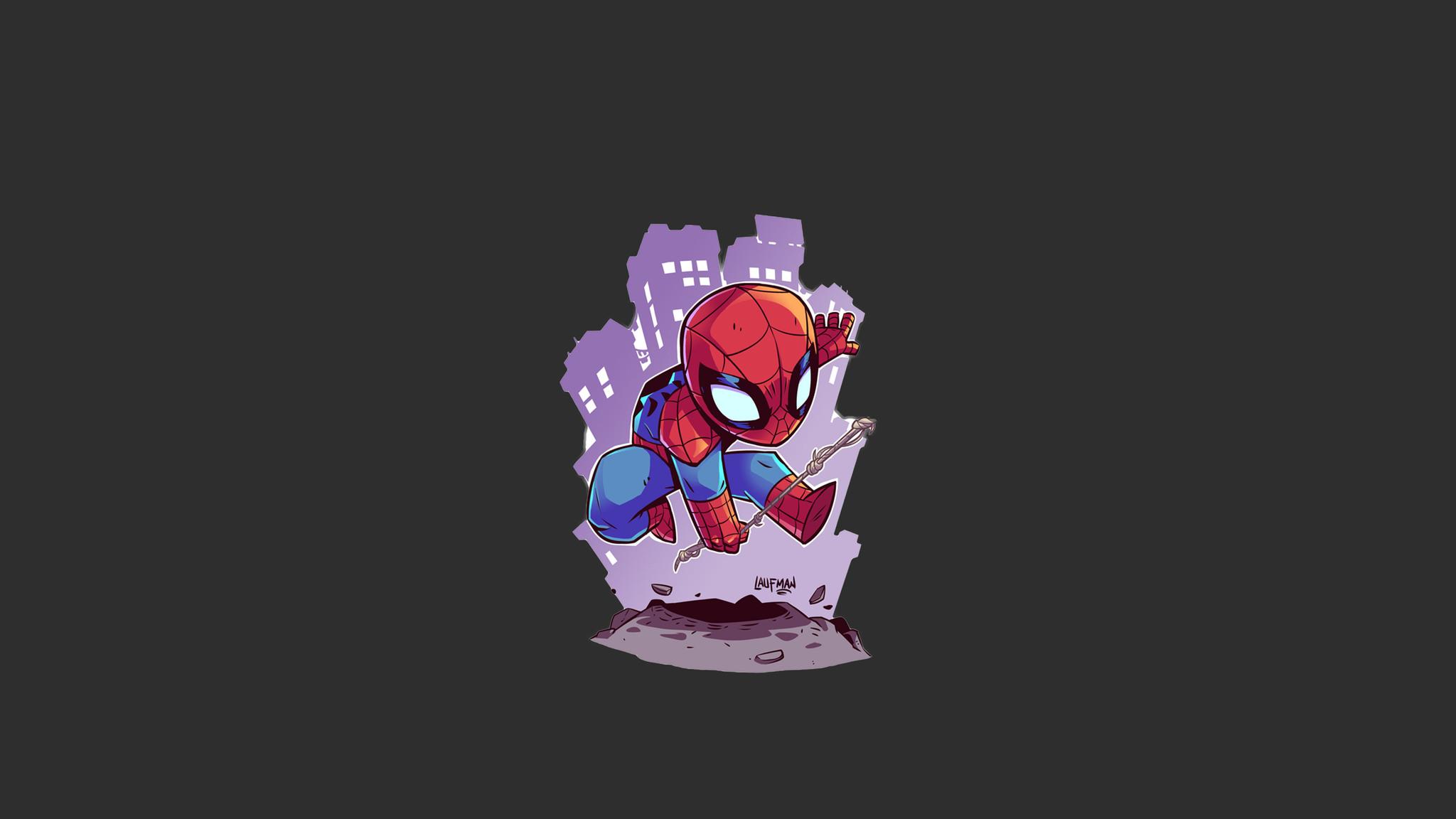 Cute Wallpapers  2048x1152 Spiderman Minimalism 2048x1152 Resolution Hd 4k