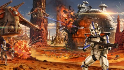 2048x1152 Star Wars Artwork Geonosis Clone Trooper 2048x1152 Resolution HD 4k Wallpapers, Images ...