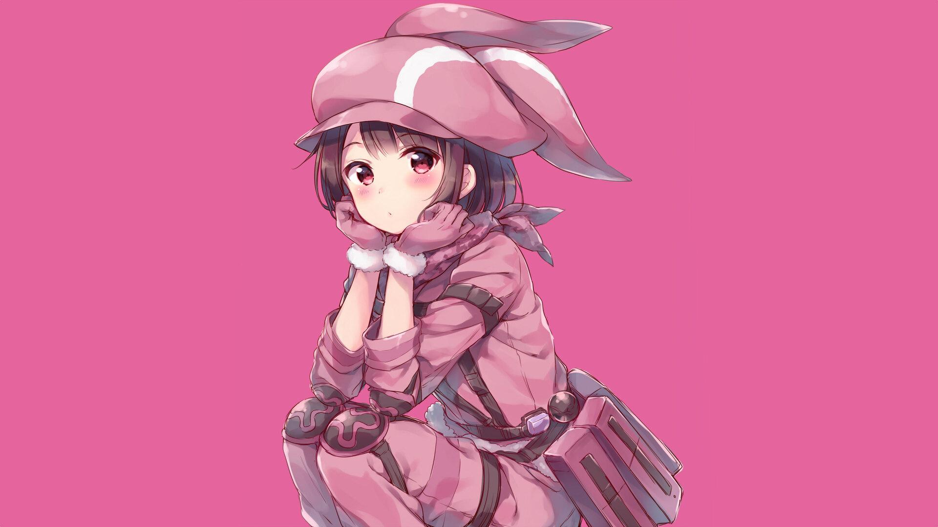 Cute Girl Hd Wallpaper For Mobile 1920x1080 Sword Art Online Alternative Gun Gale Online