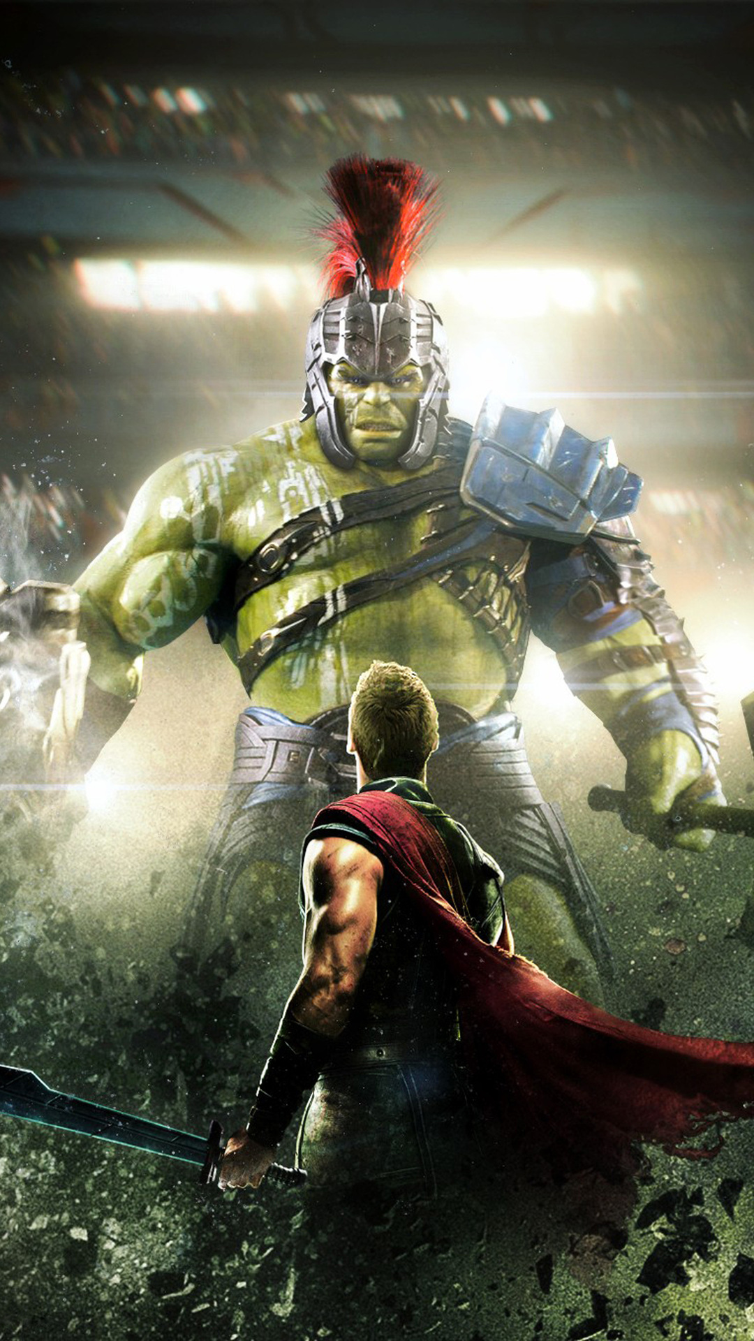 3d Thor Ragnarok Android Wallpaper 1080x1920 Thor And Hulk In Thor Rangnarok Iphone 7 6s 6