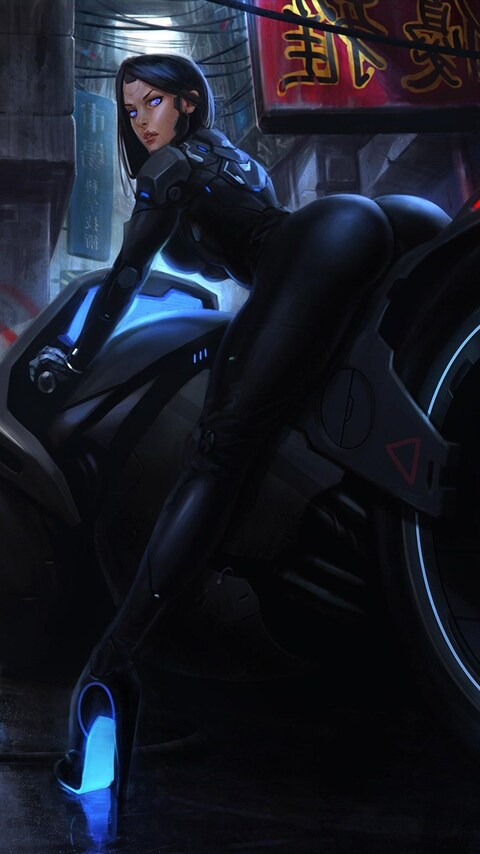 Girl Hd Desktop Wallpaper 480x854 Tron Bike Anime Girl Android One Hd 4k Wallpapers