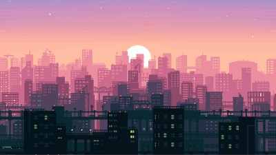 8 Bit Pixel Art City, HD Artist, 4k Wallpapers, Images, Backgrounds, Photos and Pictures
