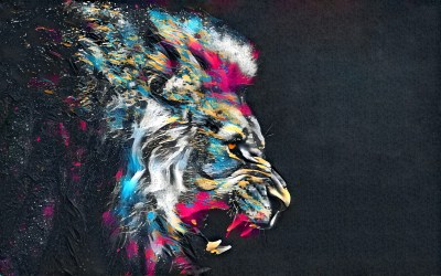 1920x1200 Abstract Artistic Colorful Lion 1080P Resolution ...