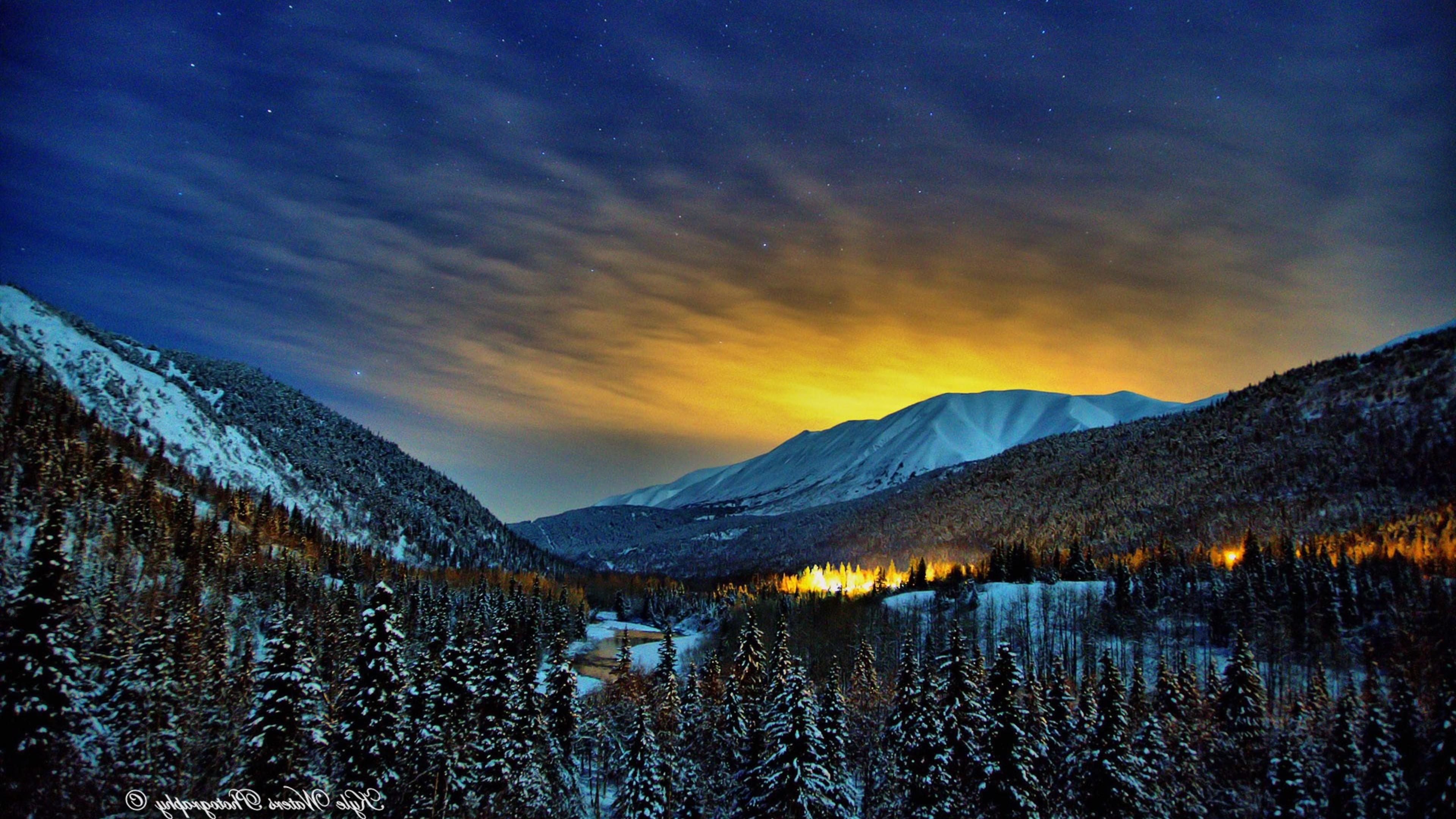 4k Laptop Wallpaper Fall Forest Alaska Winter Nights Hd Nature 4k Wallpapers Images