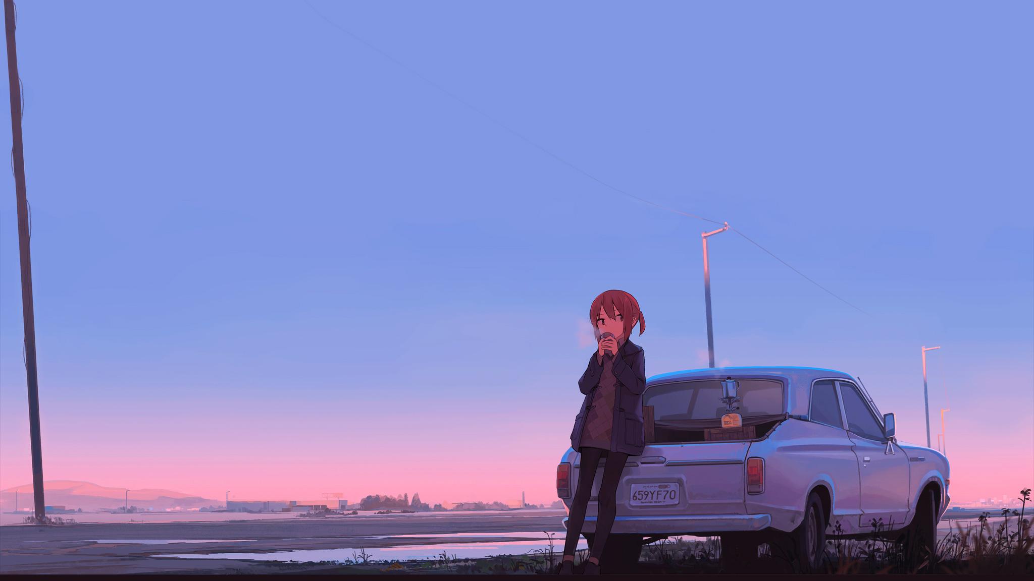 Indian Girl Wallpaper 2560x1440 Jpg Anime Girl Car Drinking Coffee Hd Anime 4k Wallpapers