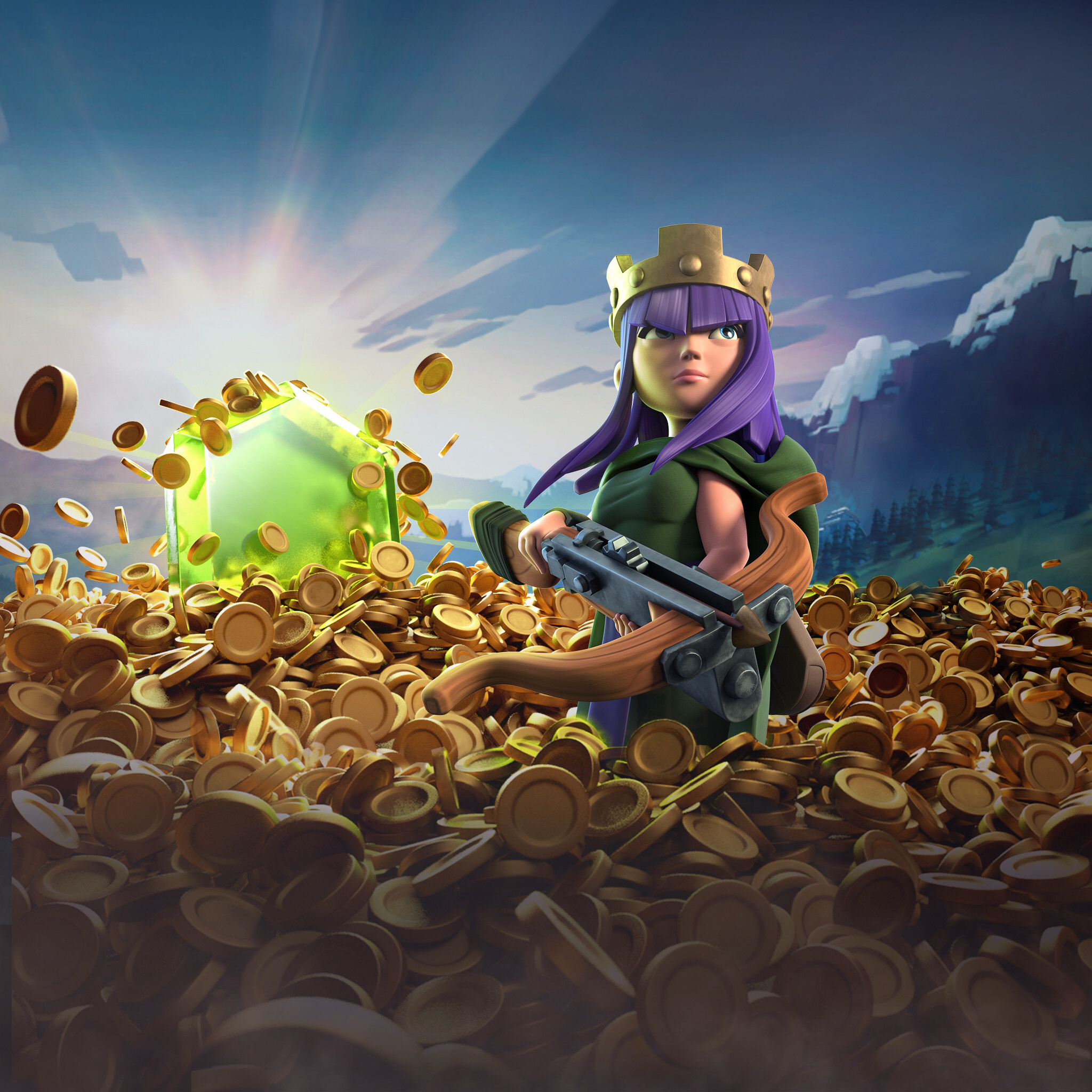 Cool 3d Wallpapers For Walls Archer Queen Clash Of Clans Hd Games 4k Wallpapers