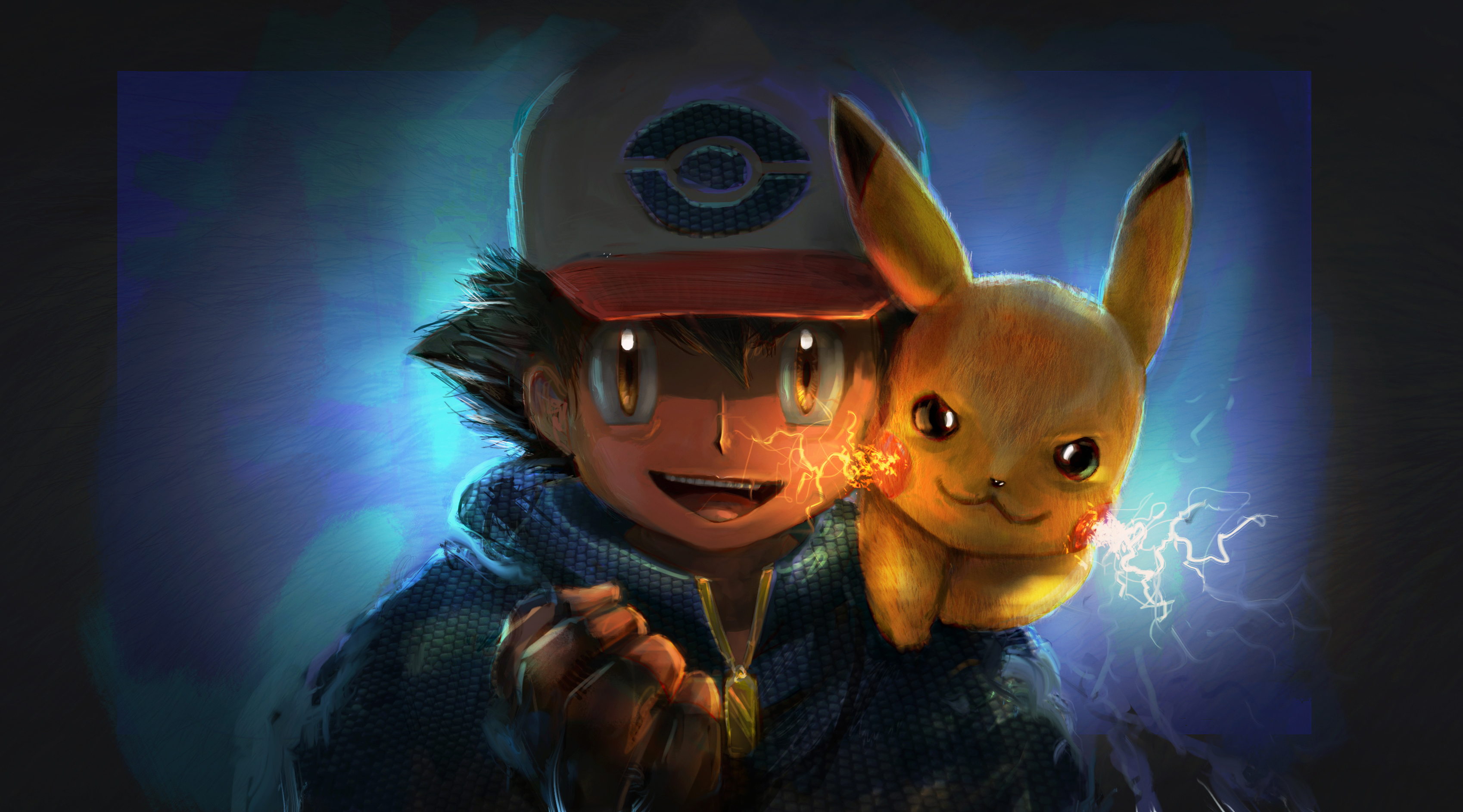 800x1280 Wallpaper Hd Ash And Pikachu Artwork Hd Anime 4k Wallpapers Images