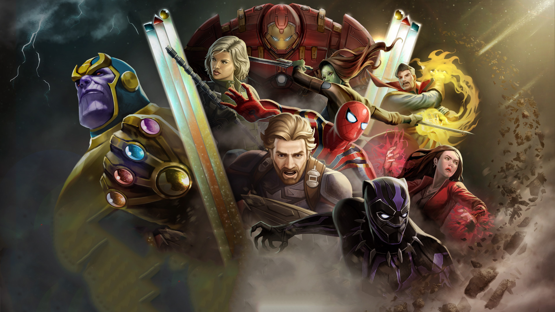 Avengers 3d Wallpaper For Android Avengers Infinity War Marvel Contest Of Champions Hd