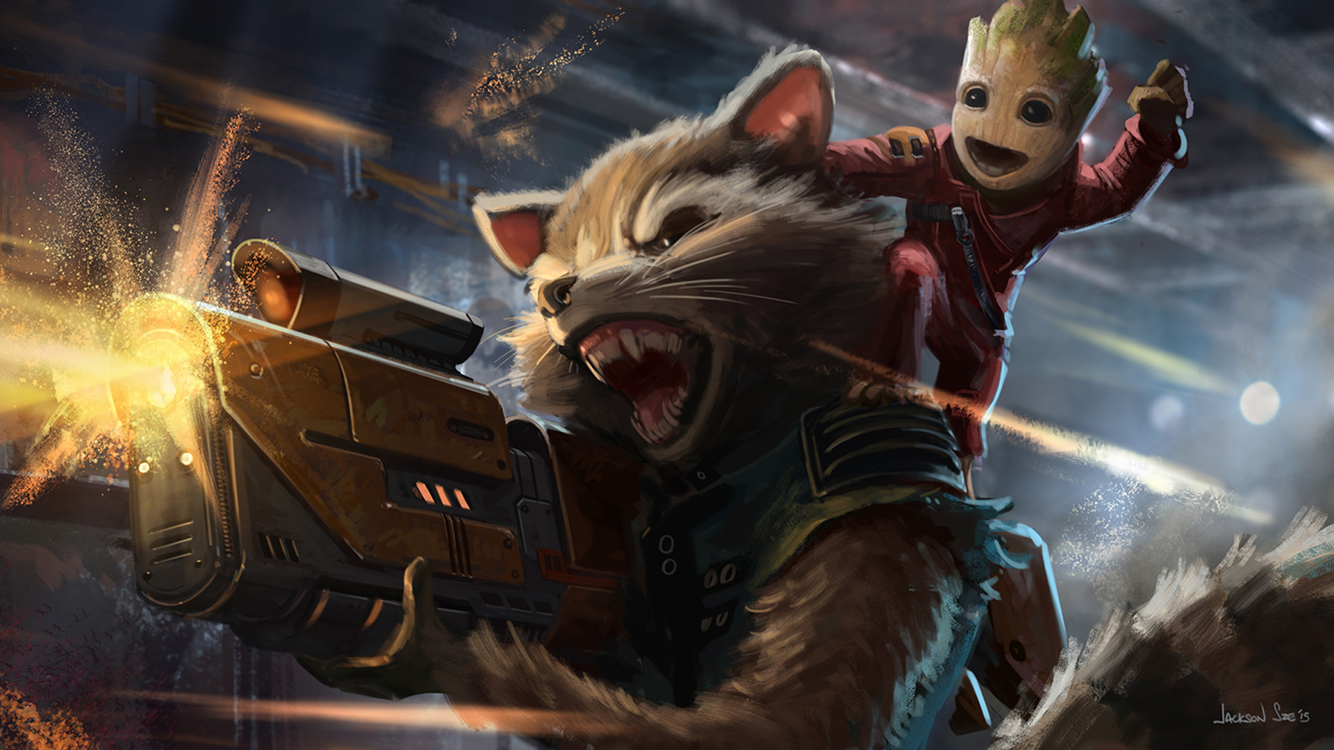 Cute Indian Baby Images For Wallpaper Baby Groot And Rocket Raccoon Artwork Hd Movies 4k