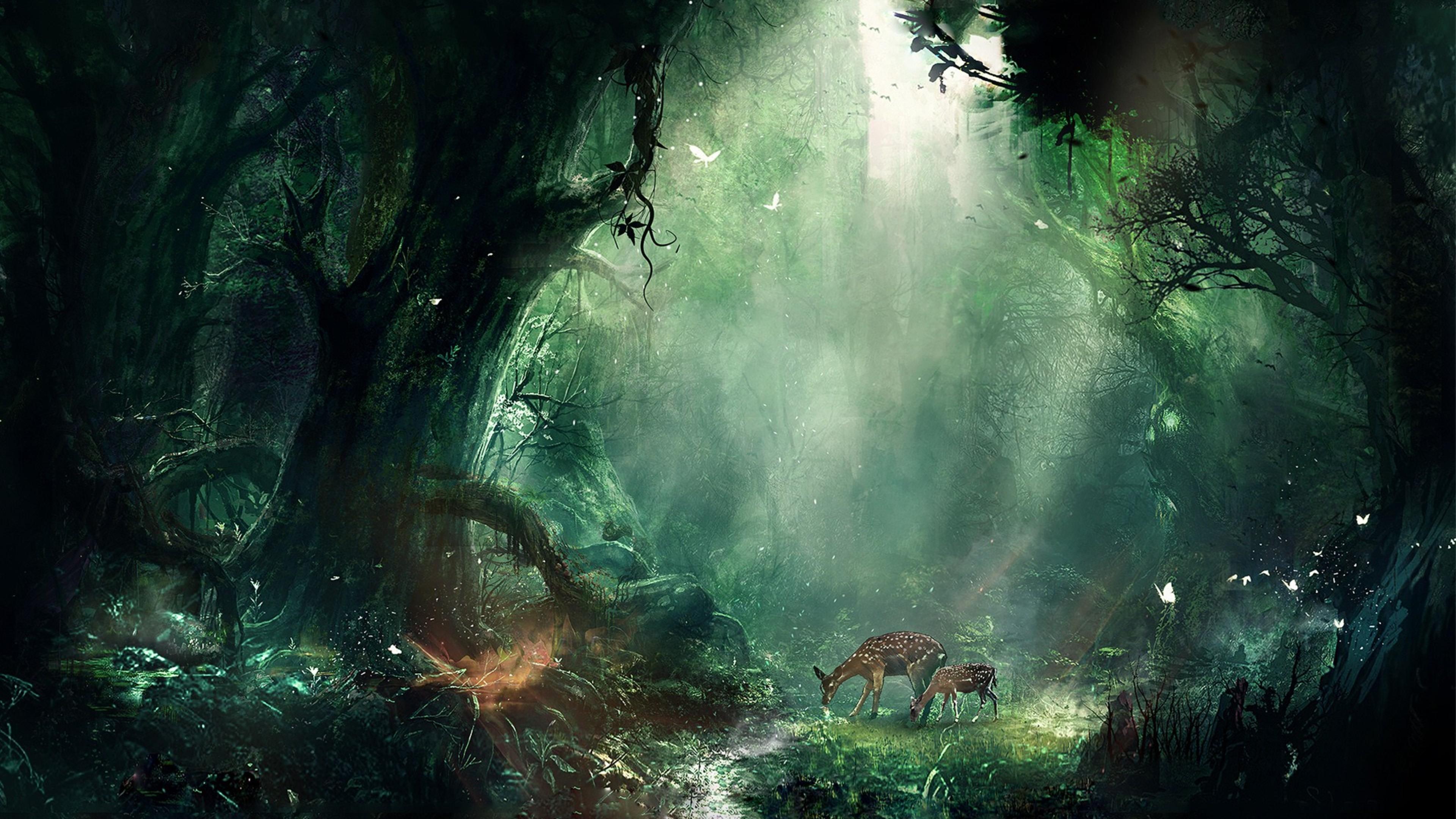 Desktop Wallpapers 3d Graphics Amazon Forest 1080x1920 Bambi Jungle Iphone 7 6s 6 Plus Pixel Xl One