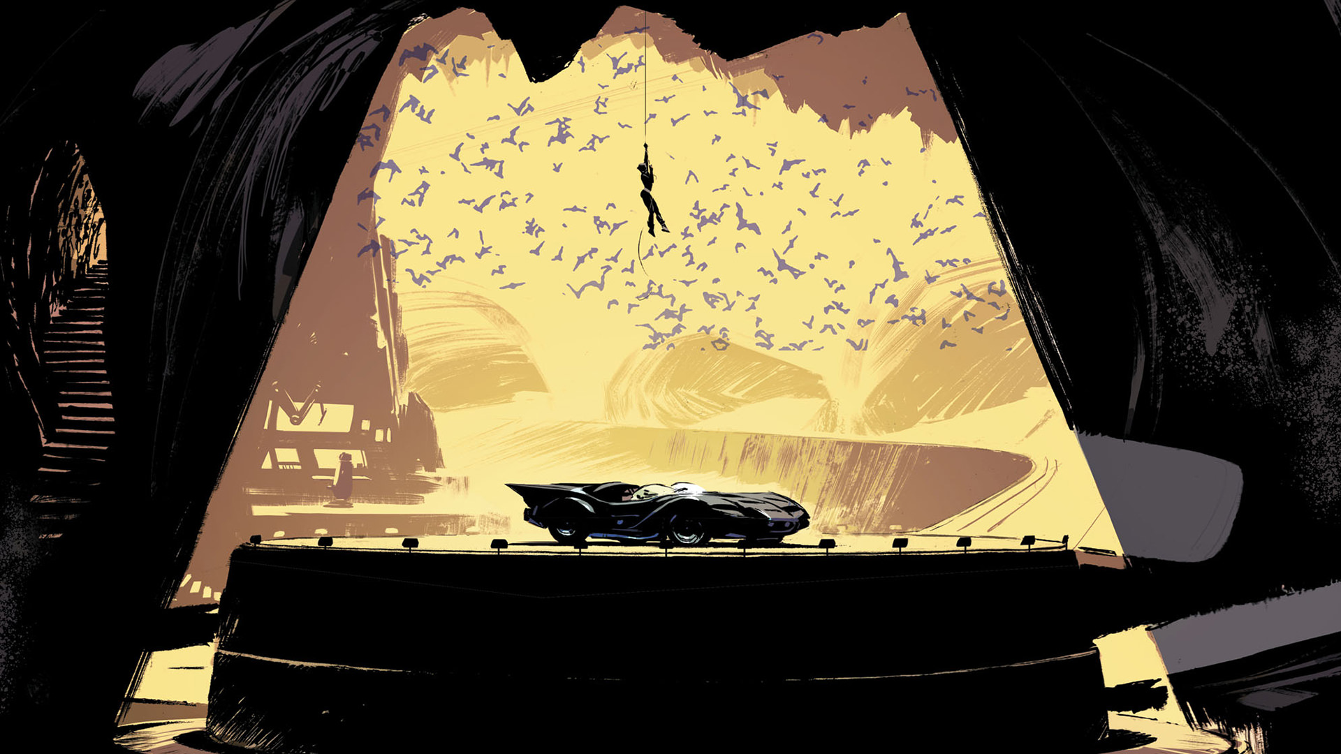 Download Wallpaper Cute Cat 1920x1080 Batcave Catwoman Dc Comics Artwork Laptop Full