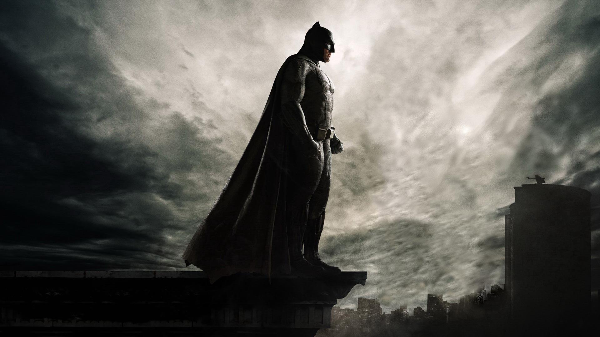 Batman Vs Superman Wallpaper 3d Batman On The Roof Of Seeing Gotham City Hd Superheroes