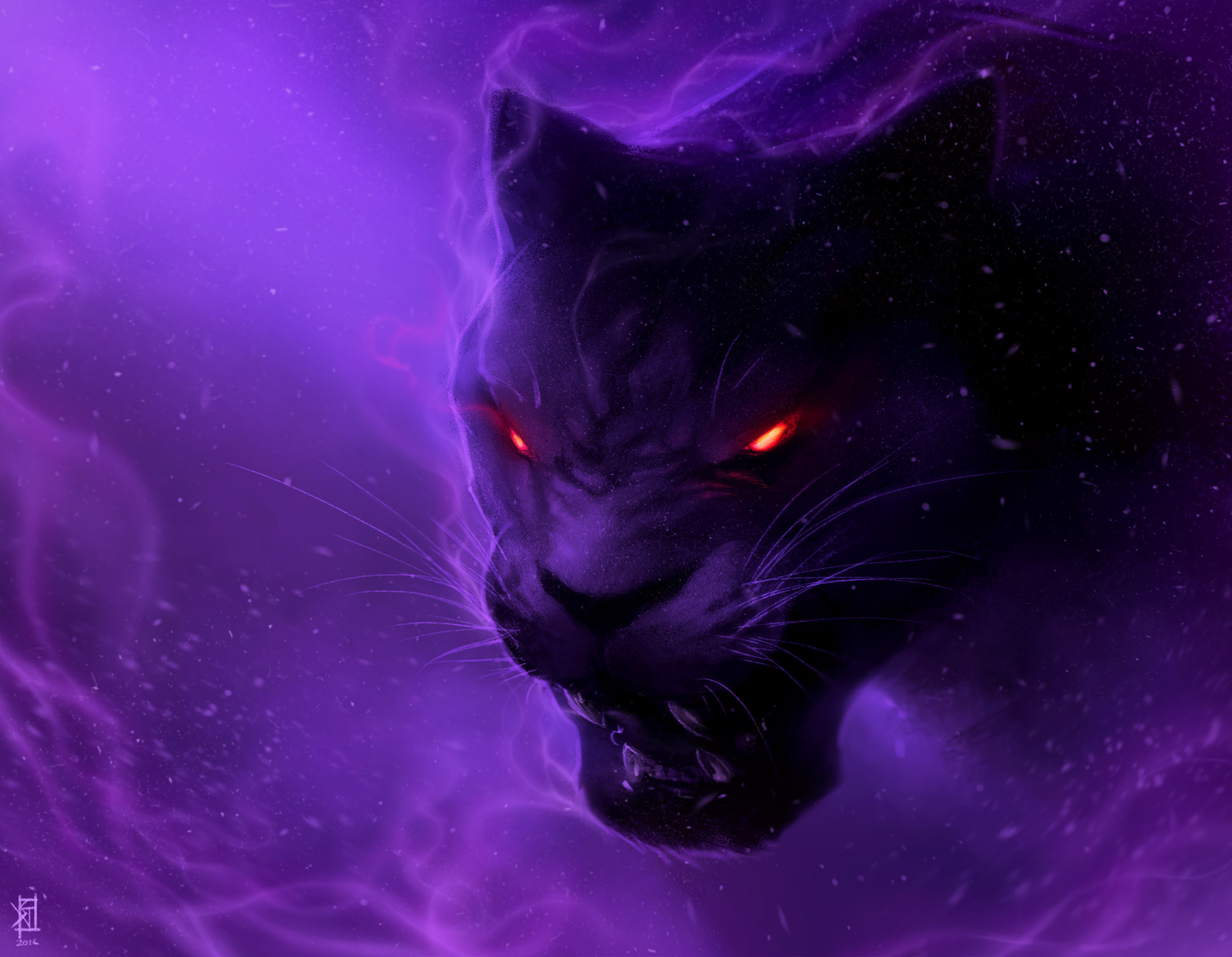 Black Panther Animal Wallpaper Black Panther Digital Art Illustration Hd Artist 4k