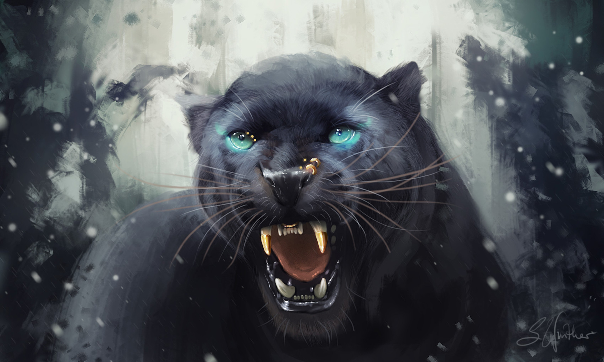 Black Panther Girls Wallpaper Hd Black Panther Roar Artwork Hd Artist 4k Wallpapers