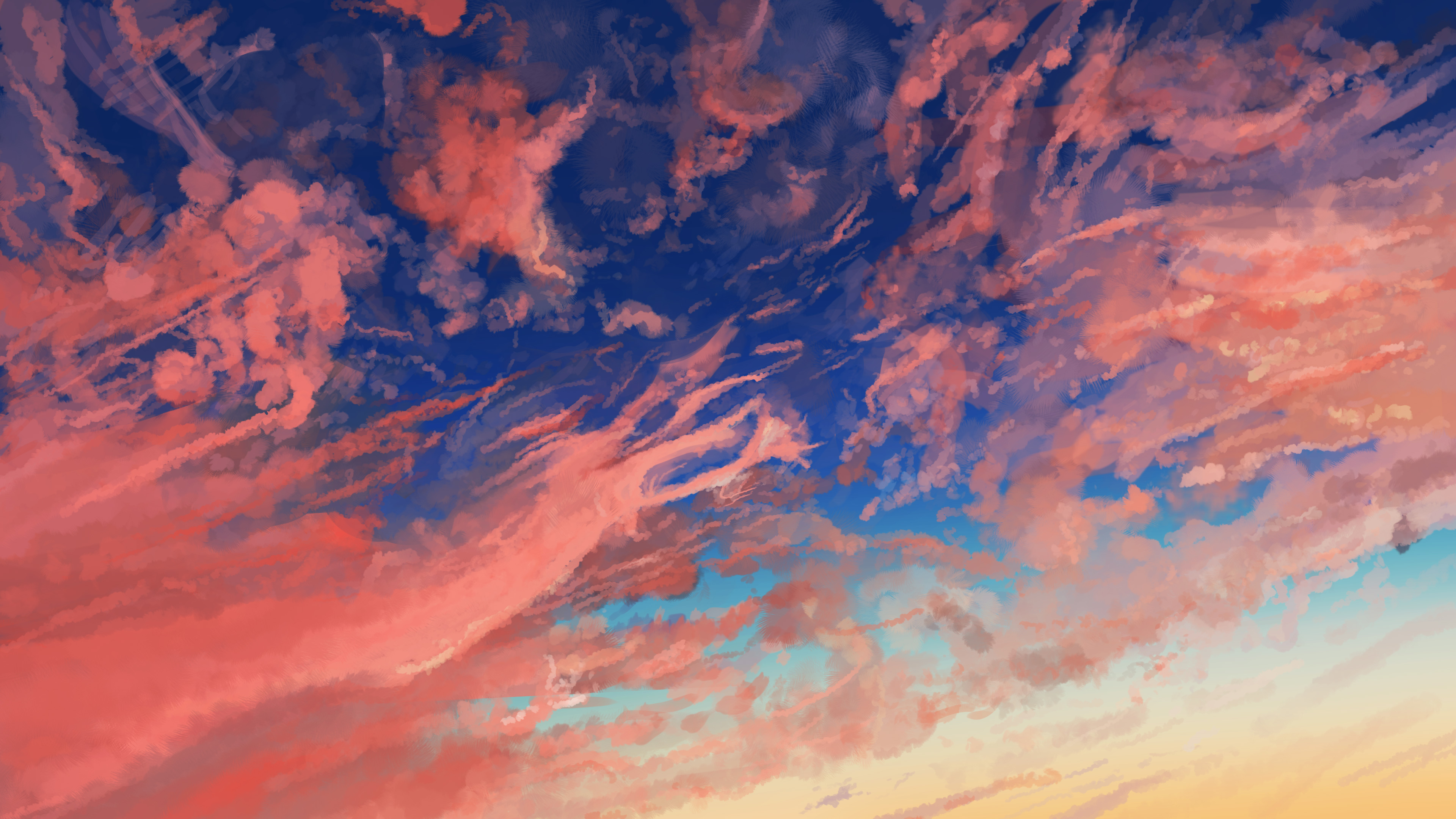 Sky Anime Cloud Sky Anime Hd Anime 4k Wallpapers Images Backgrounds
