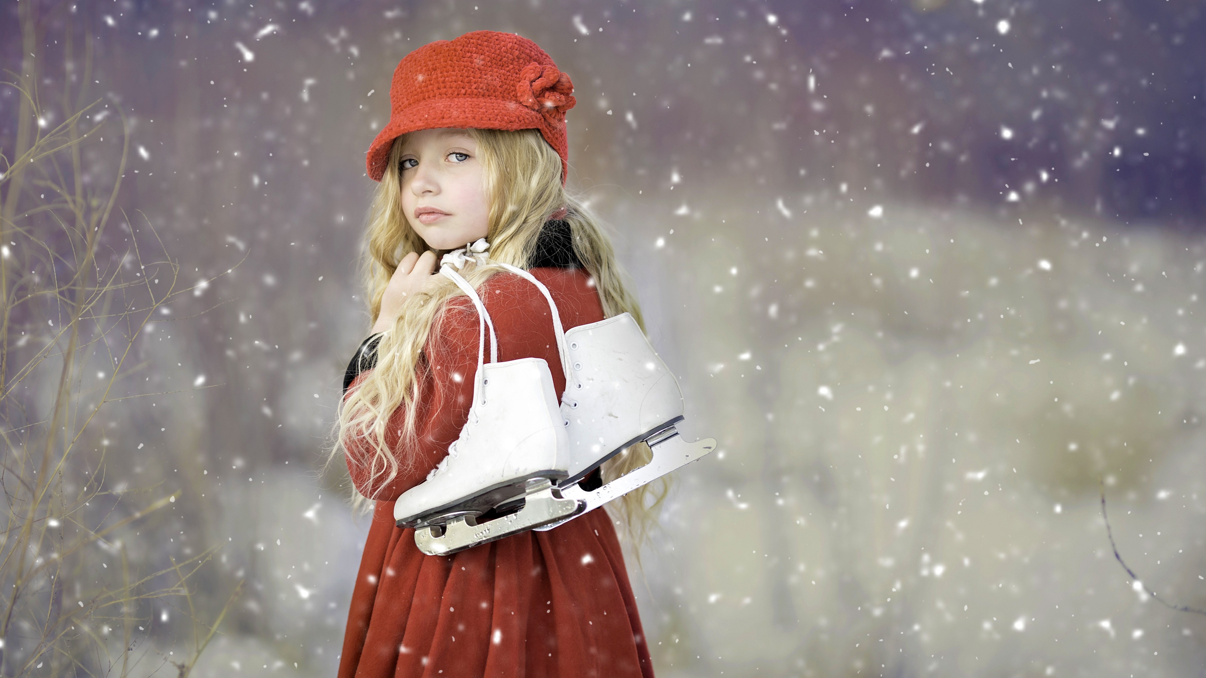 Cute Baby Girl Hd Wallpaper For Mobile Cute Girl Ice Skates Hd Cute 4k Wallpapers Images