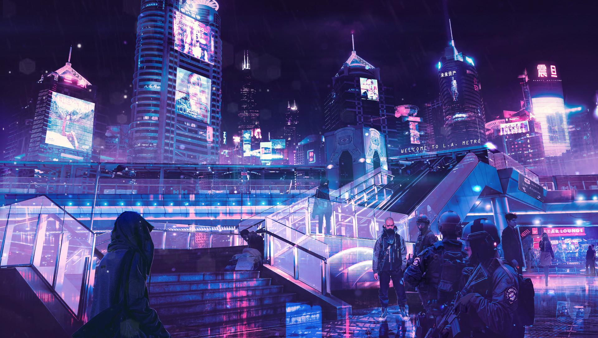 Dubai Girls Wallpaper Cyberpunk Neon City Hd Artist 4k Wallpapers Images