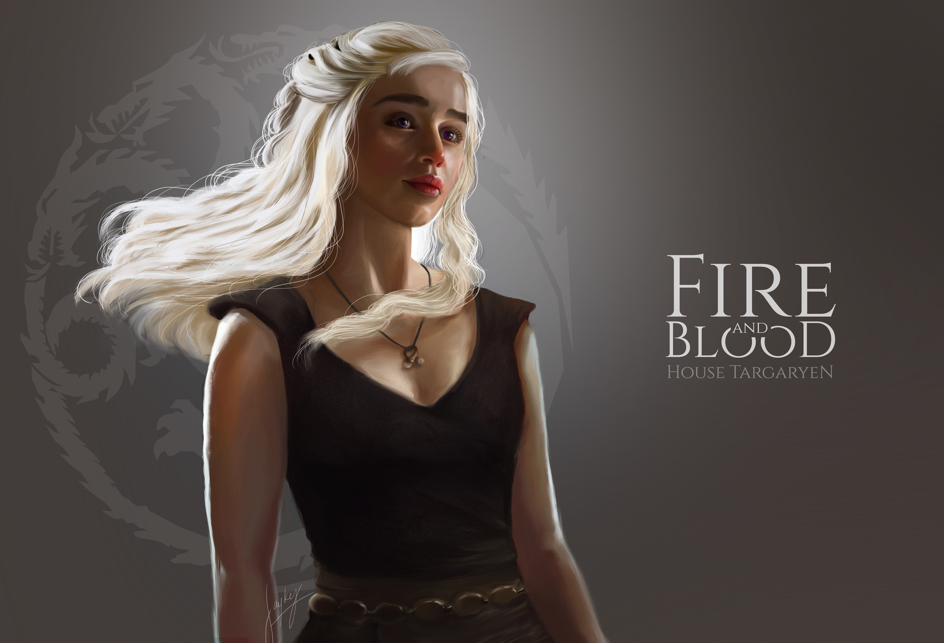 1920x1080 Wallpaper Fantasy Girl Daenerys Targaryen Fan Art Hd Tv Shows 4k Wallpapers