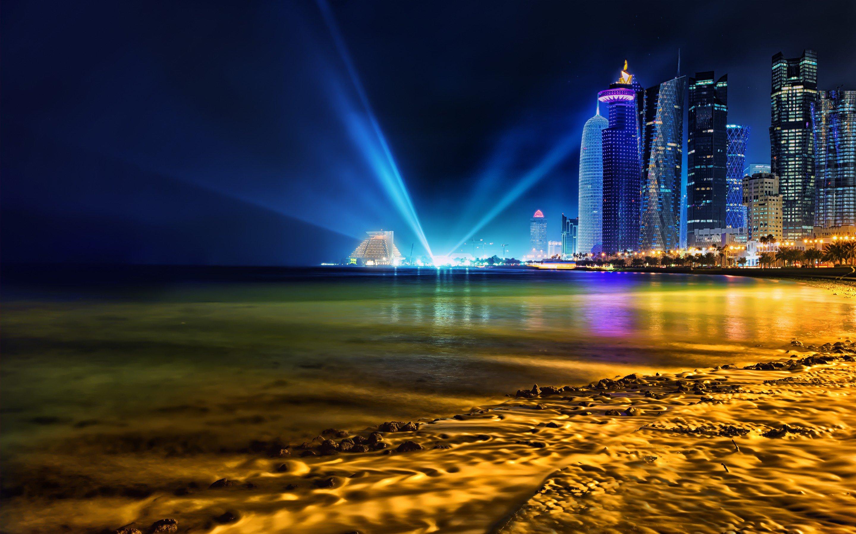 640x960 Hd Wallpapers Doha Qatar Skyline Hd World 4k Wallpapers Images