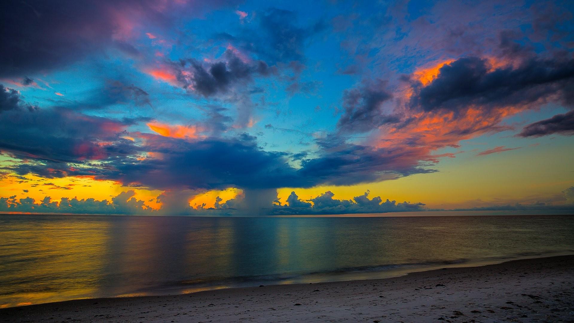 Hd Wallpapers Girls 1366x768 Florida Beach Sunset Hd Nature 4k Wallpapers Images