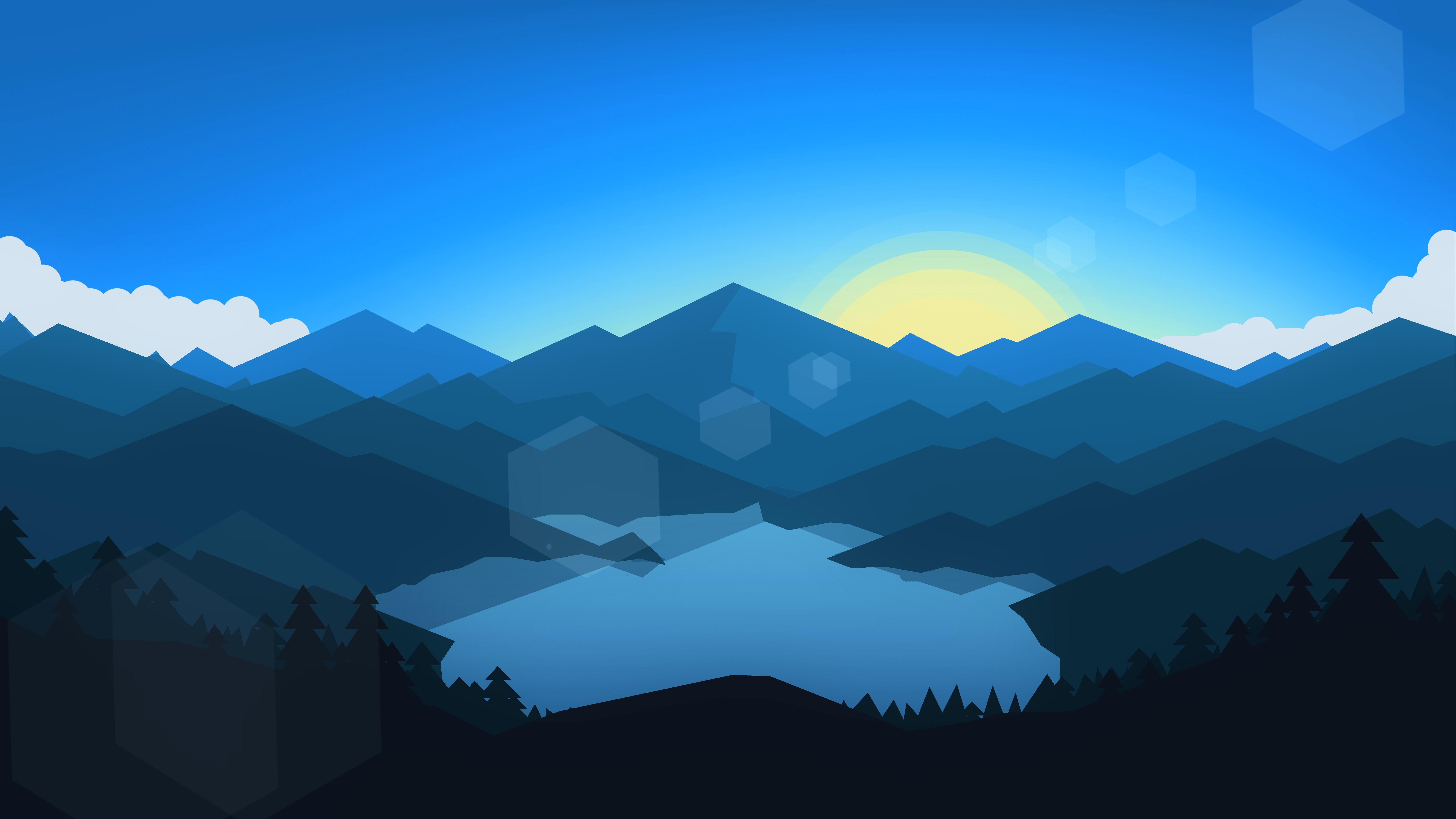 3d Forest Wallpaper Backgrounds Forest Mountains Sunset Cool Weather Minimalism Hd Artist