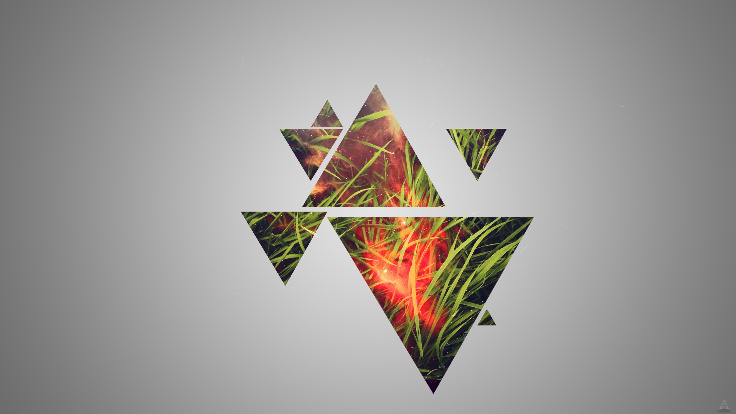 Cute Minimalistic Wallpapers Grass Triangle Hd Artist 4k Wallpapers Images